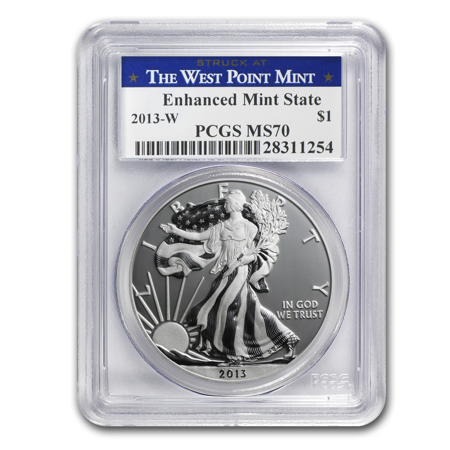 2013-W Silver American Eagle MS-70 PCGS (Enhanced Finish)