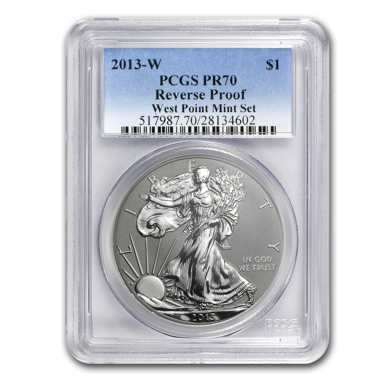 2013-W (Reverse Proof) Silver Eagle PCGS PR-70
