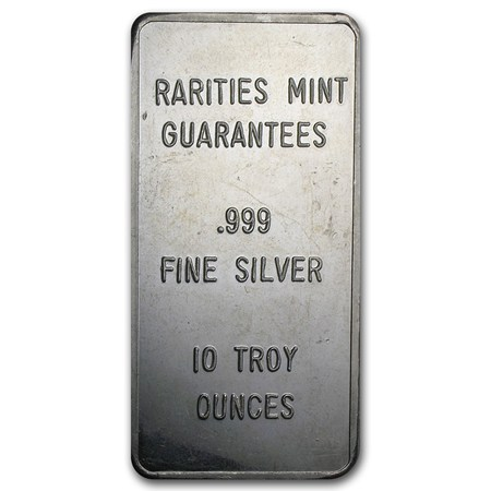 10 Oz Silver Bar Rarities Mint Pressed 10 Oz Silver