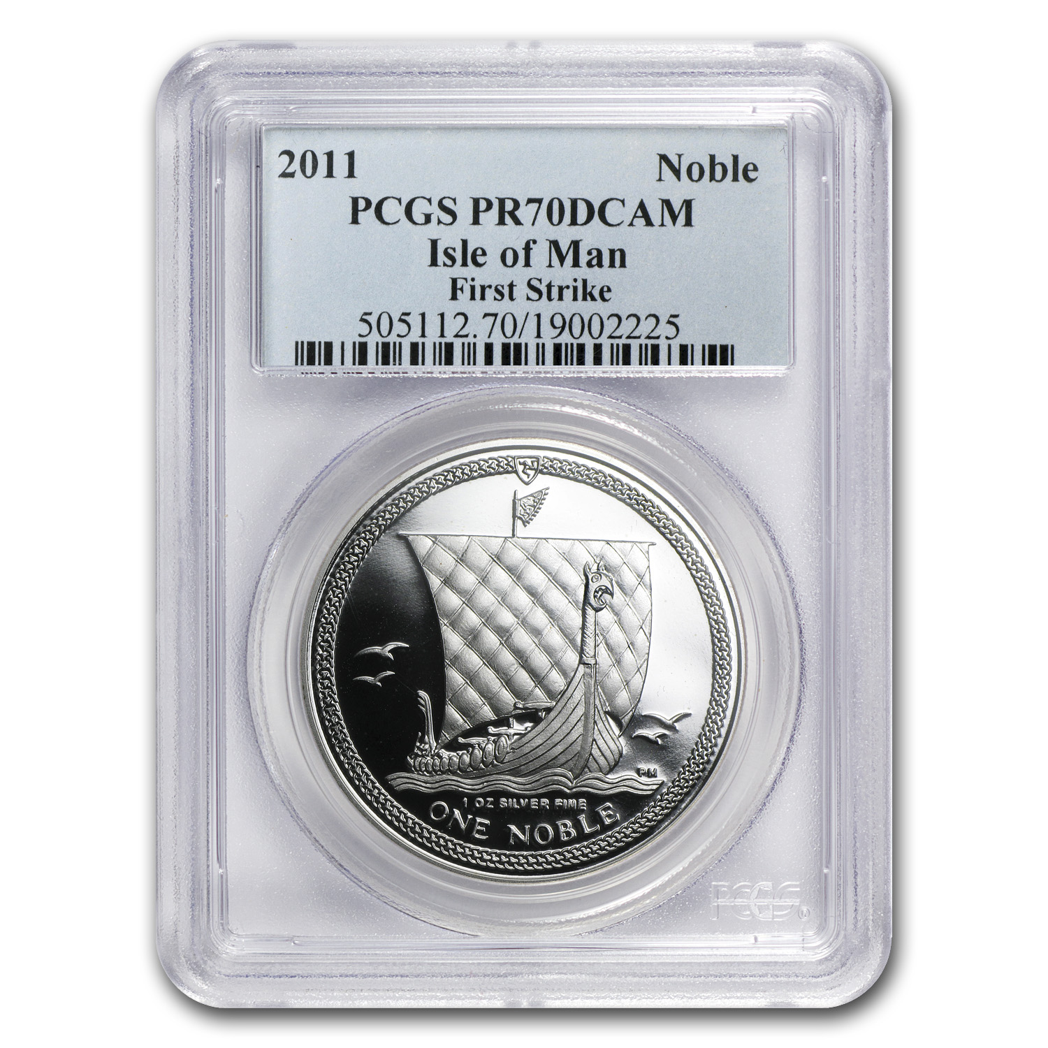 Isle of Man 2011 1 oz Silver Noble (PR-70 DCAM PCGS)