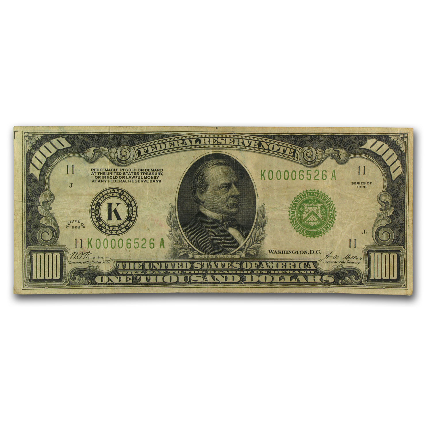 1928 (K-Dallas) $1,000 FRN Fine-15 PCGS