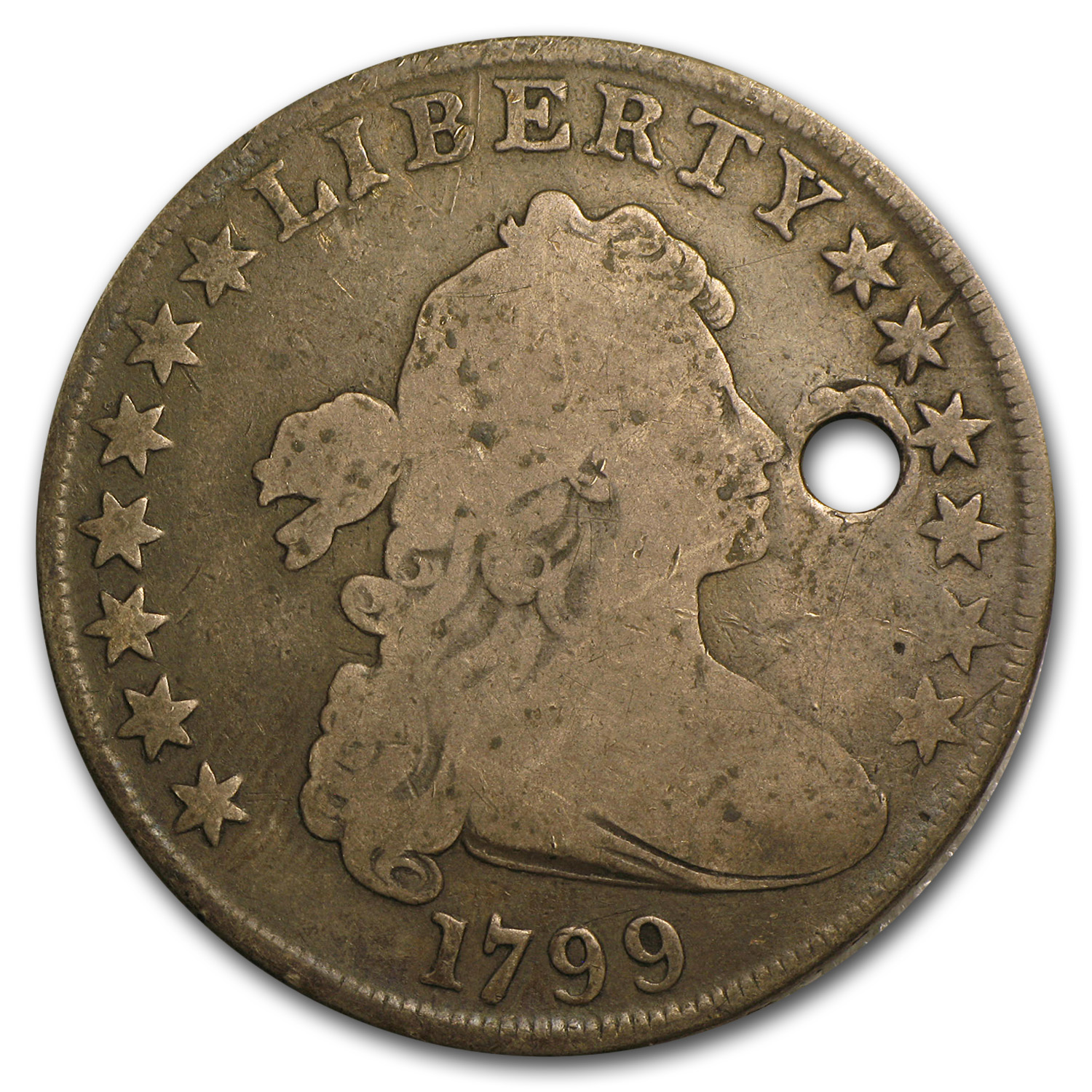 1799 Bust Dollar VG Details (Holed)