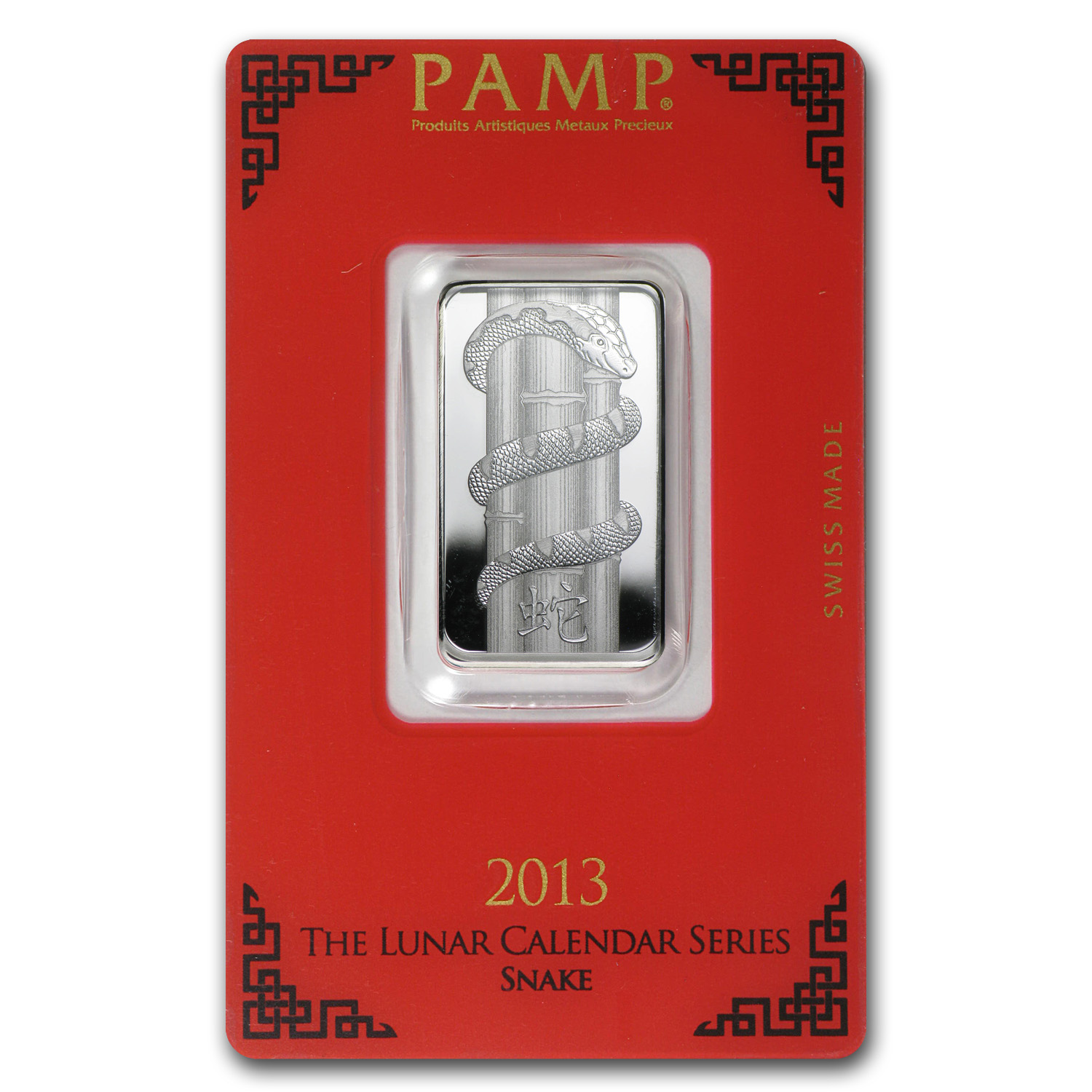 10 gram Silver Bar - PAMP Suisse (Year of the Snake)