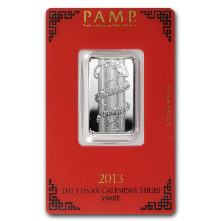 1 Oz Silver Bar Pamp Suisse Year Of The Snake 1 Oz Pamp