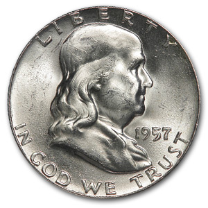 1957 Franklin Half Dollar BU