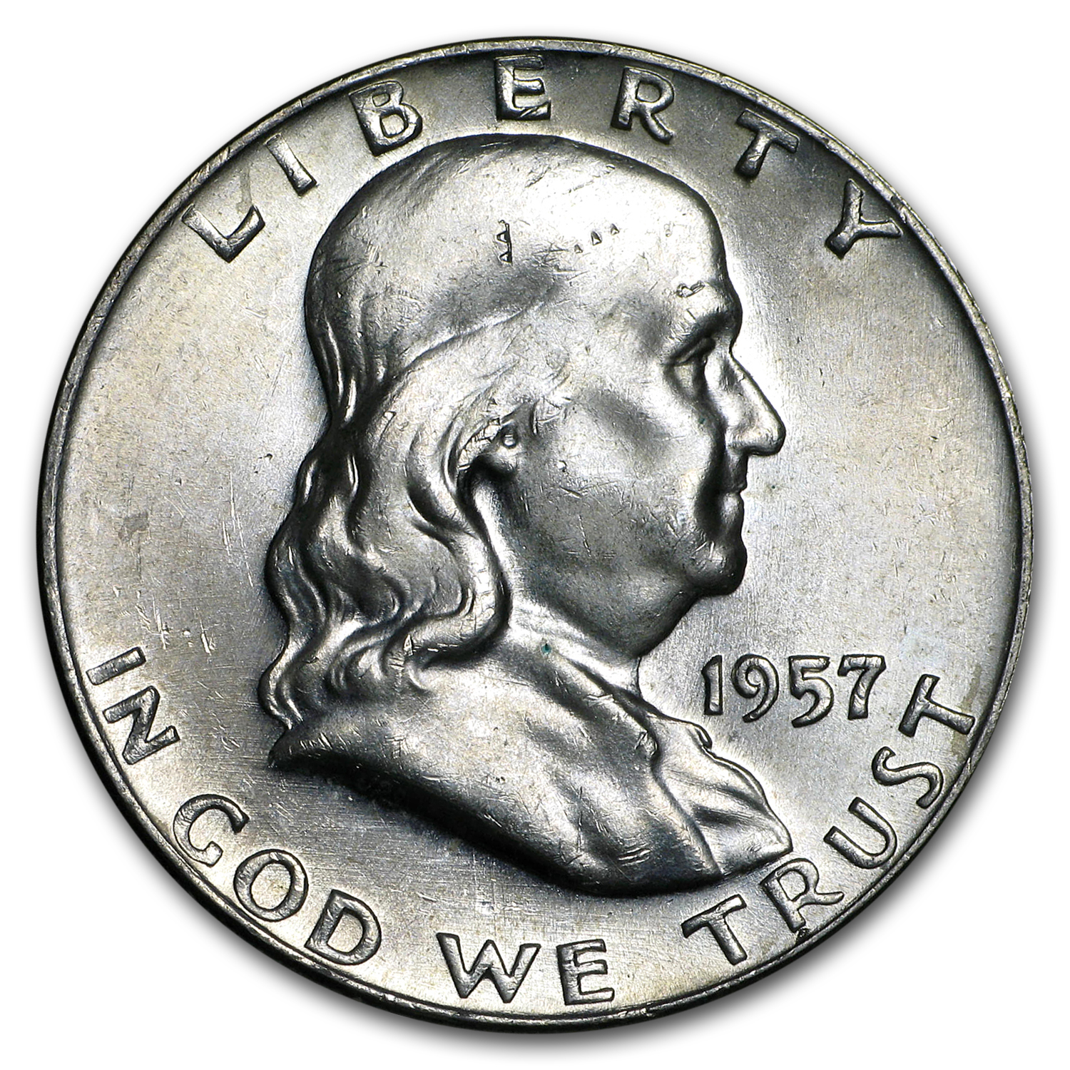 1957-D Franklin Half Dollar BU