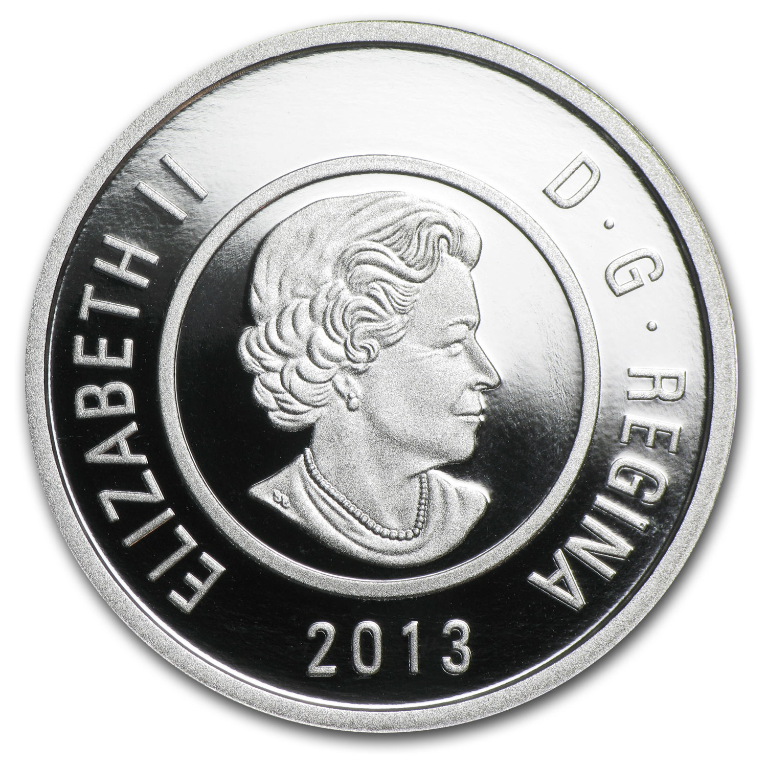 2013 Silver & Niobium Canadian $5 Father Ice Fishing