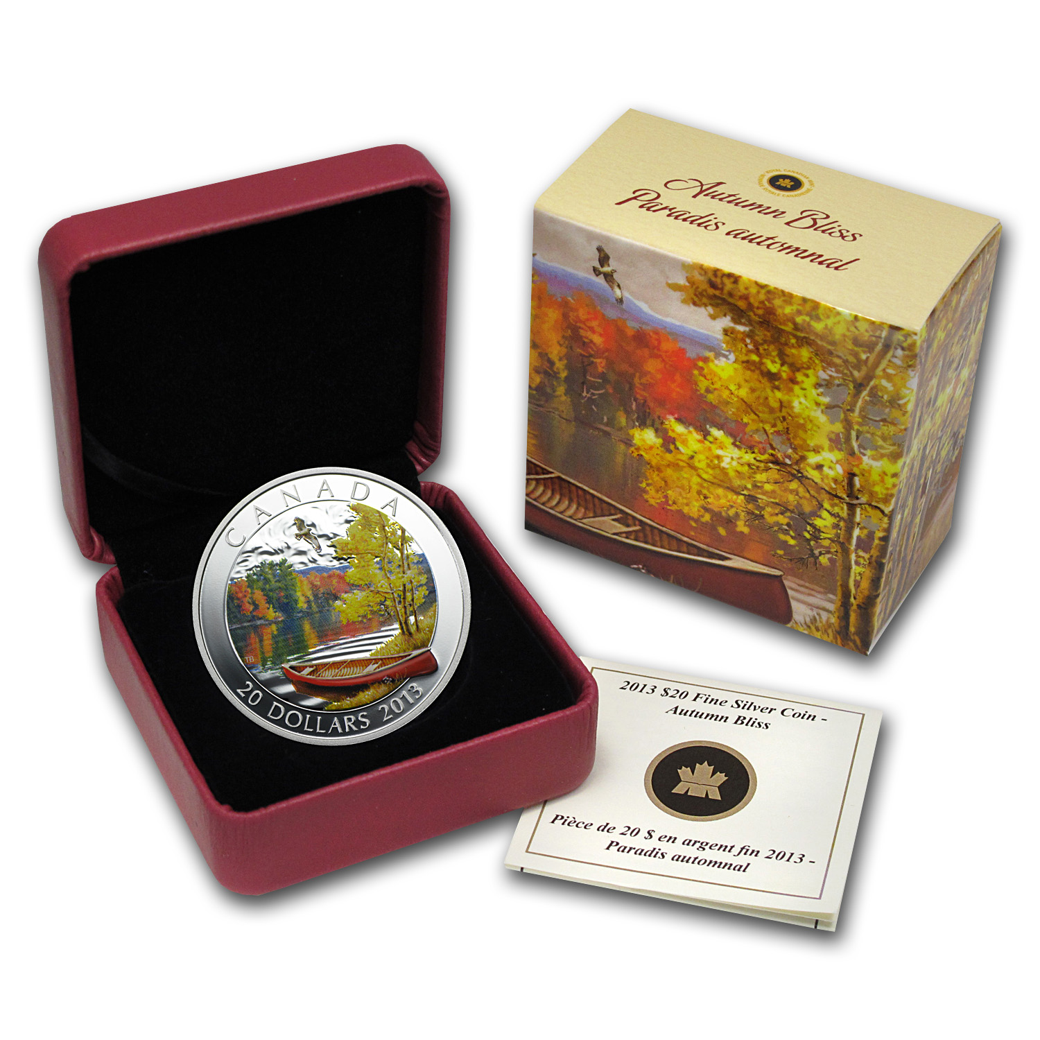 2013 Canada 1 oz Silver $20 Autumn Bliss
