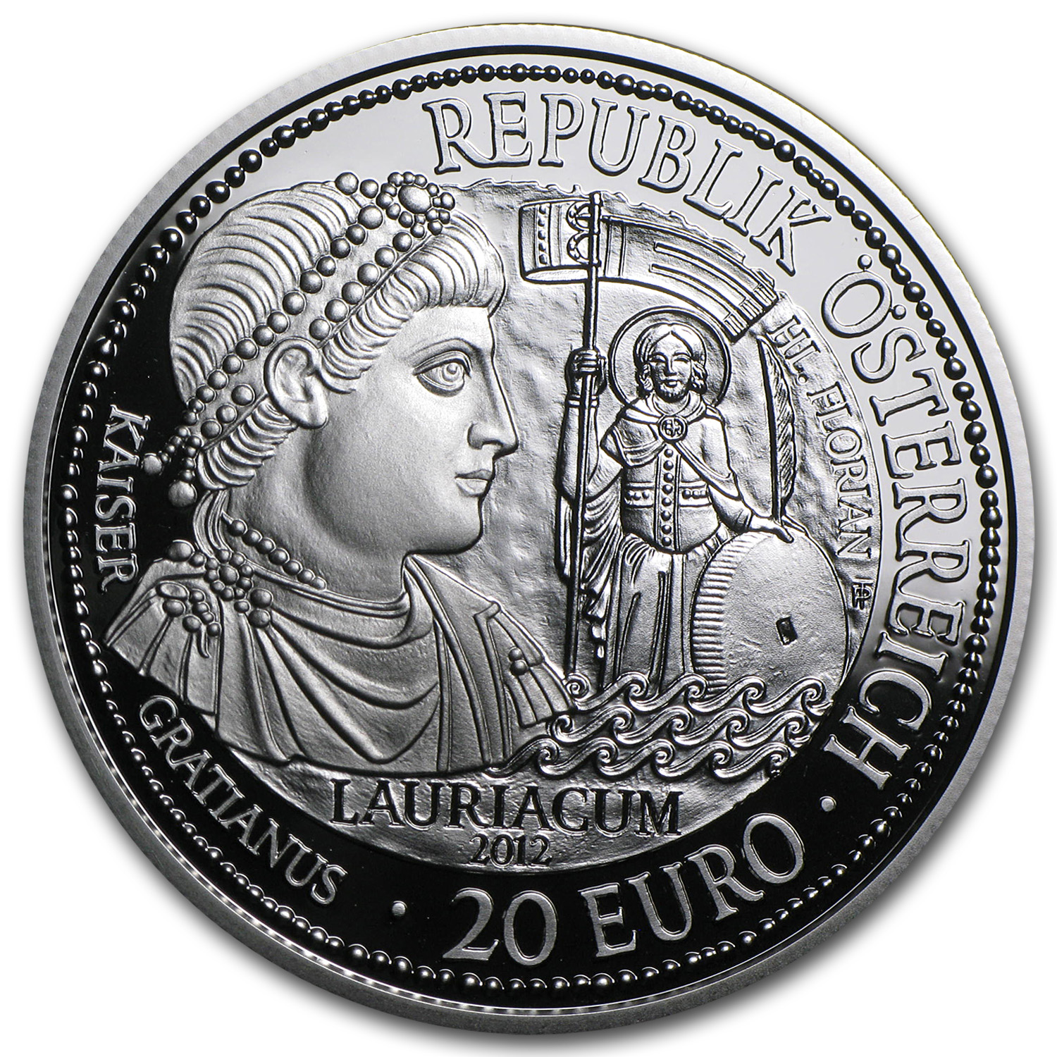 2012 Austria Silver €20 Lauriacum Proof