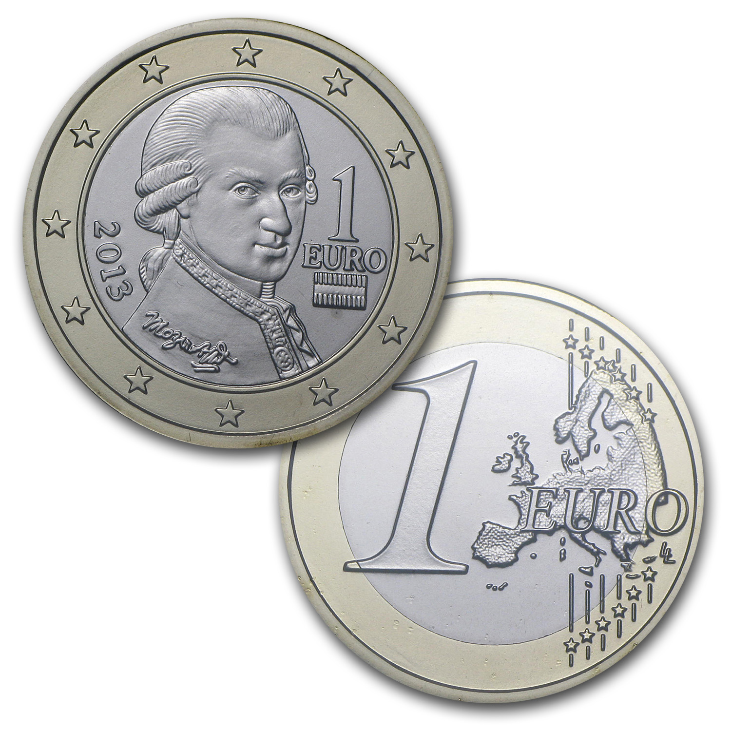 2013 Austria Official Euro Set (In Blister Pack)