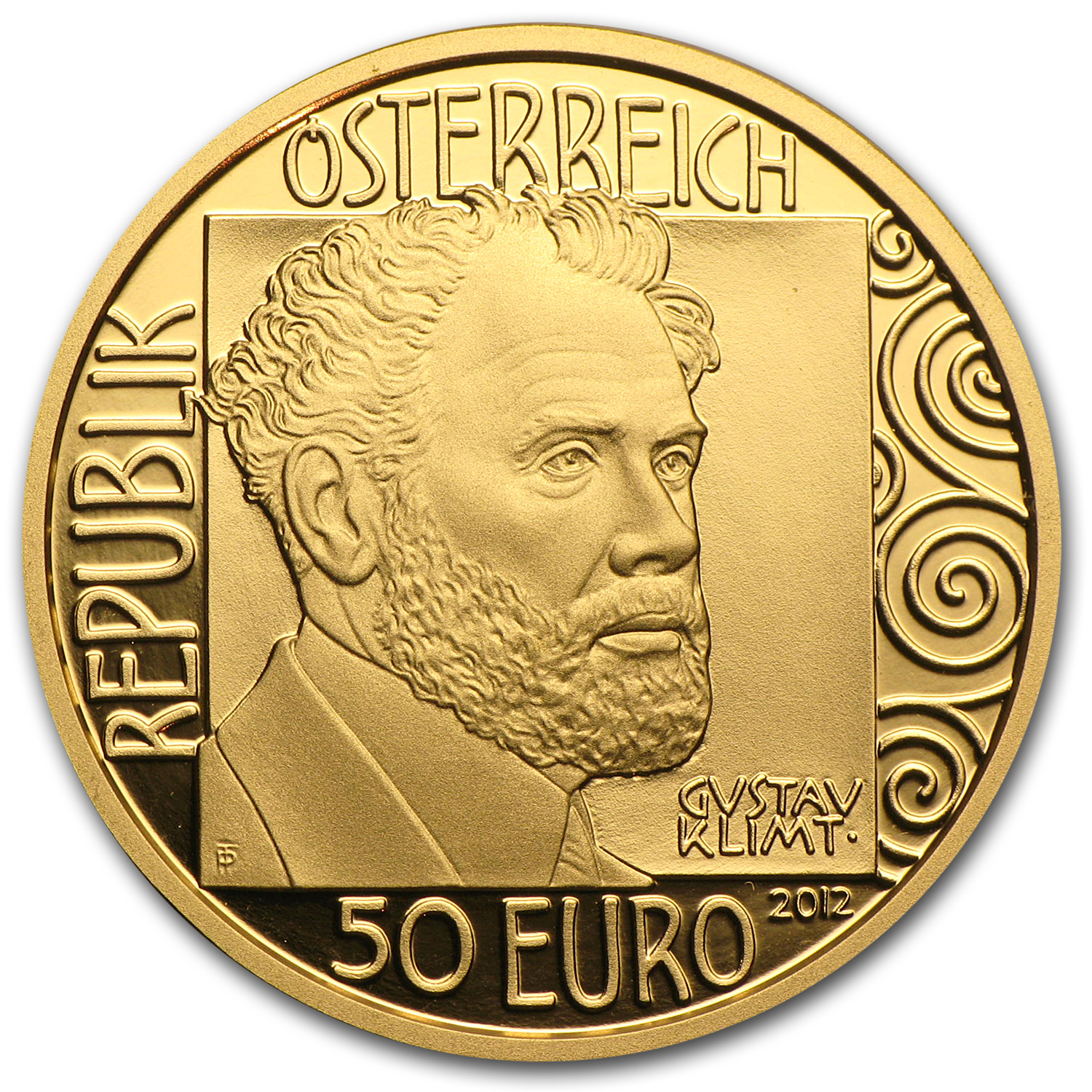 2012 Gold Austrian 50 Euro Adele Bloch-Bauer Proof