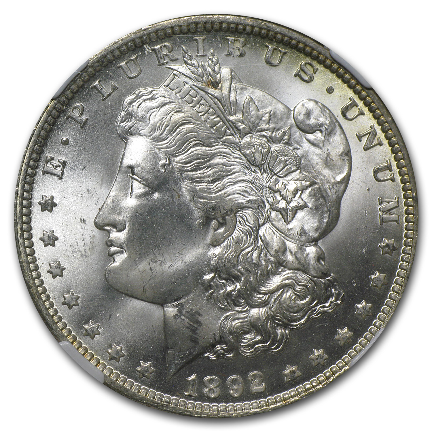 1892-O Morgan Dollar MS-64+ Plus NGC (CAC)