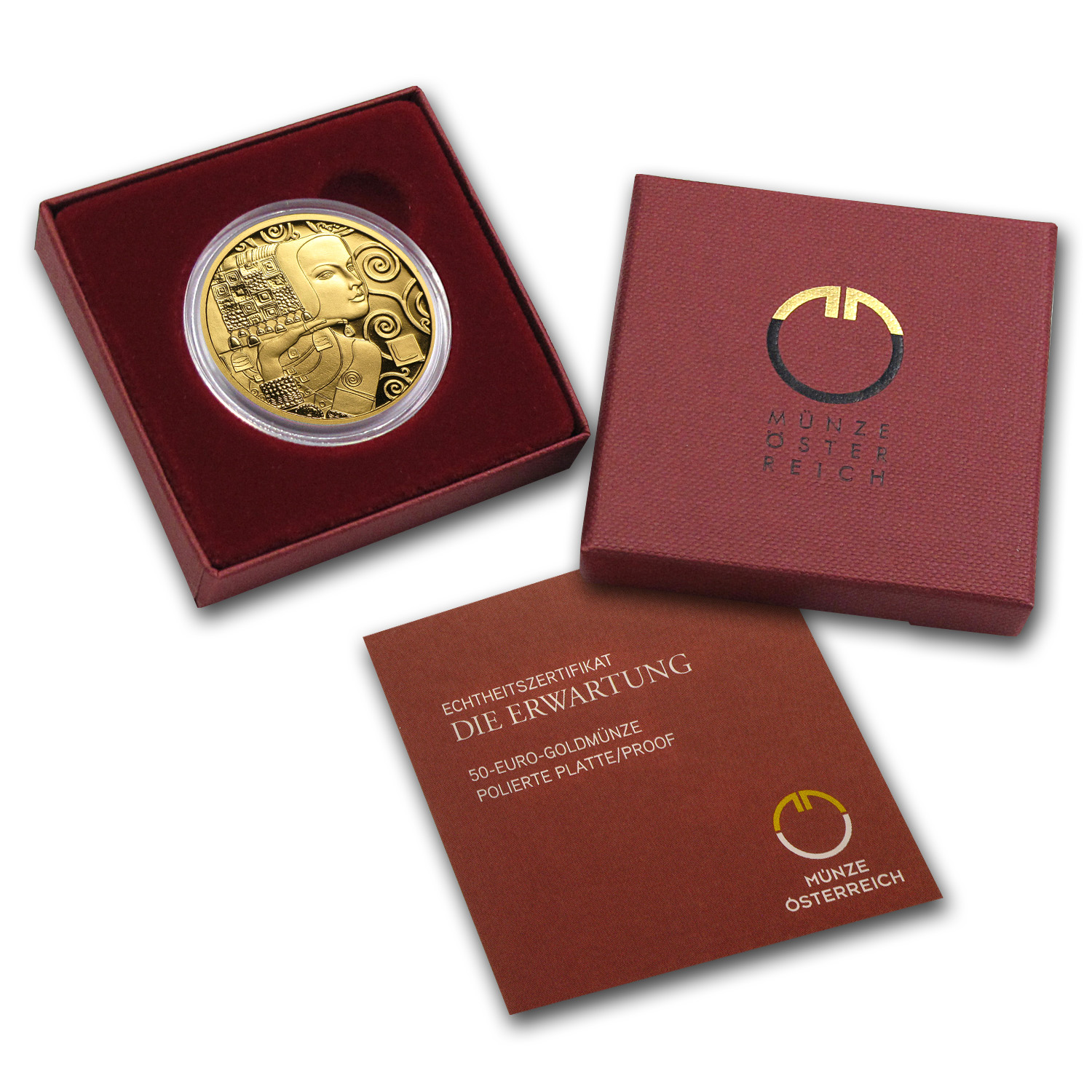 2013 Die Erwartung The Expectation 50 Euro Proof Gold Coin