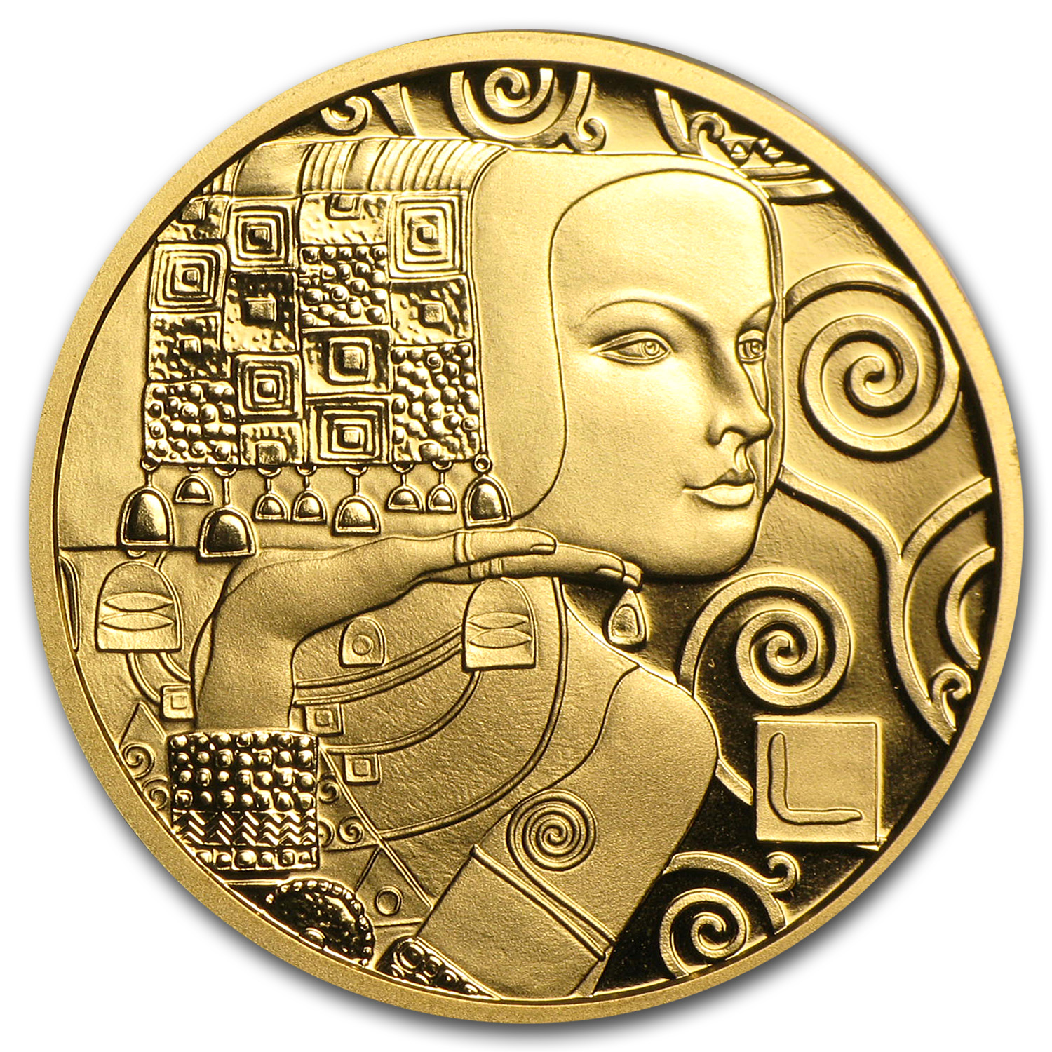 2013 Austria Gold 50 Euro Die Erwartung Proof (The Expectation)