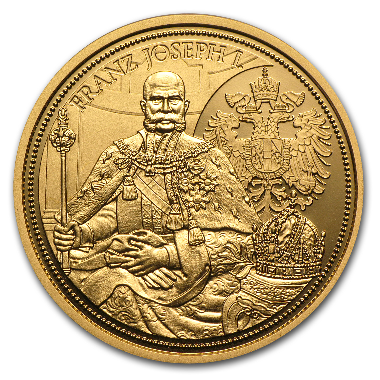 2012 Gold Austrian 100 Euro Imperial Crown of Austria Proof