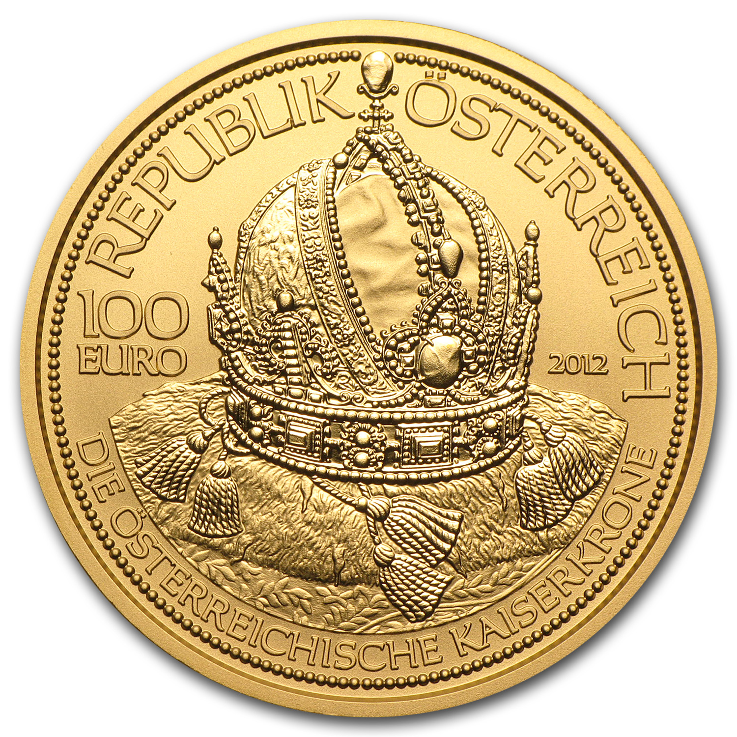 2012 Austria Gold 100 Euro Imperial Crown of Austria Proof