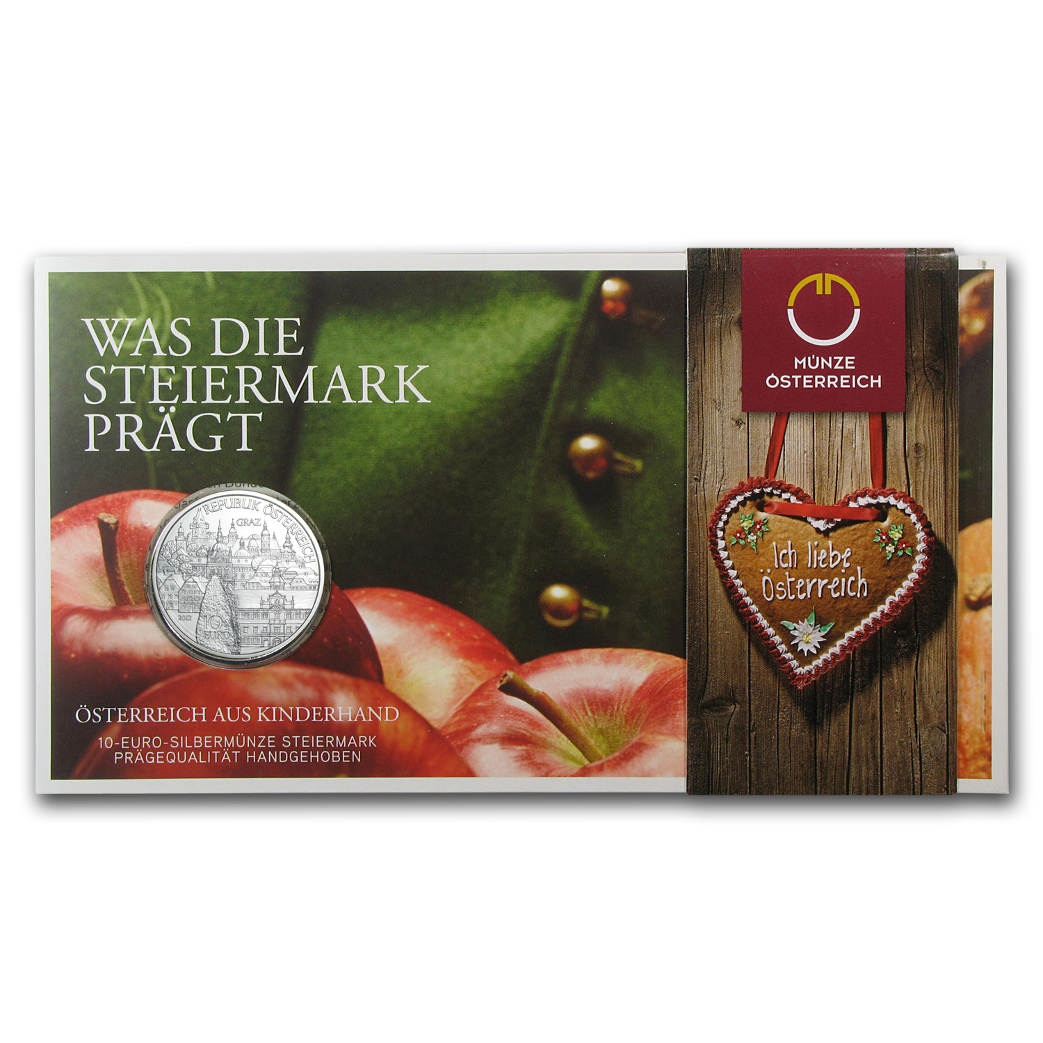 2012 Steiermark-Styria 10 Euro Silver Coin In Blister ASW 0.4759