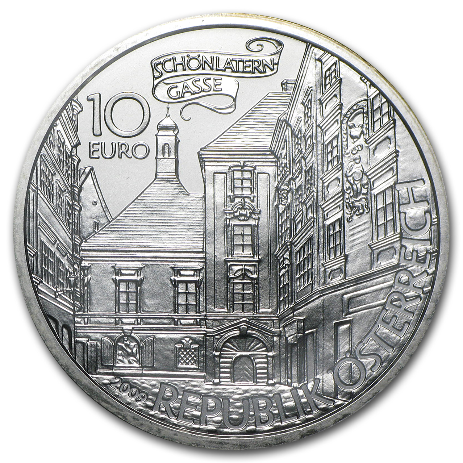 2009 Austria Silver €10 The Basilisk of Vienna BU