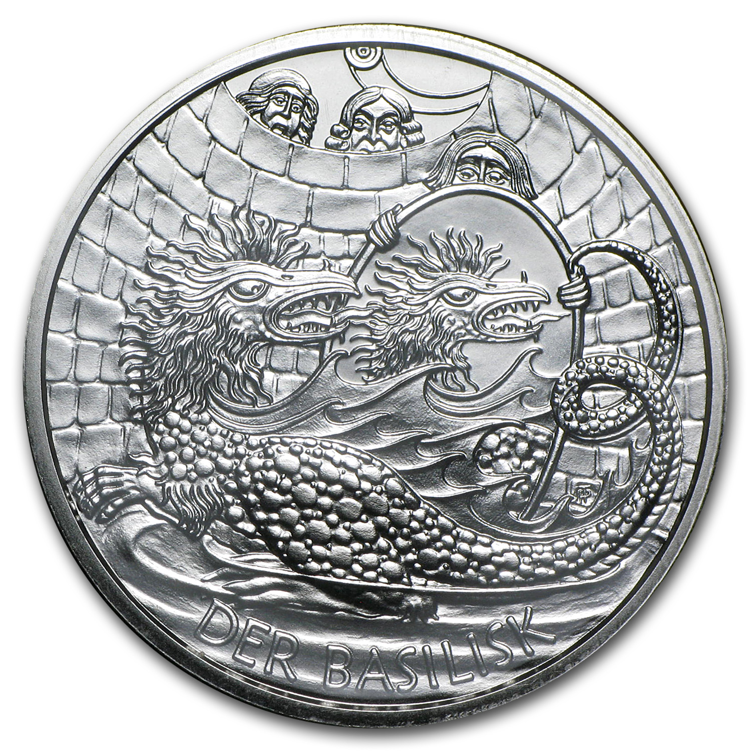 2009 Silver Austrian 10 Euro The Basilisk of Vienna BU