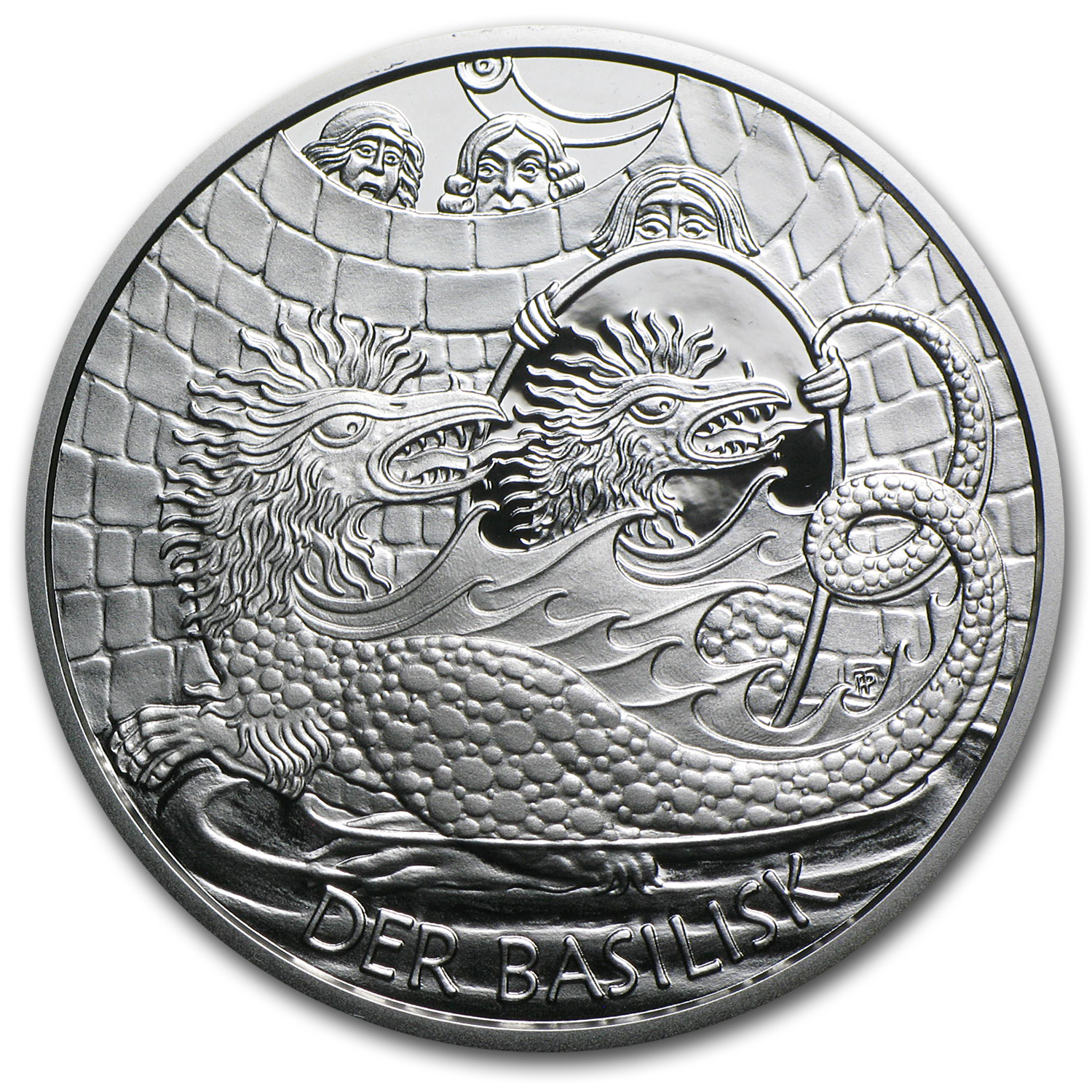 2009 Silver Austrian 10 Euro The Basilisk of Vienna Proof