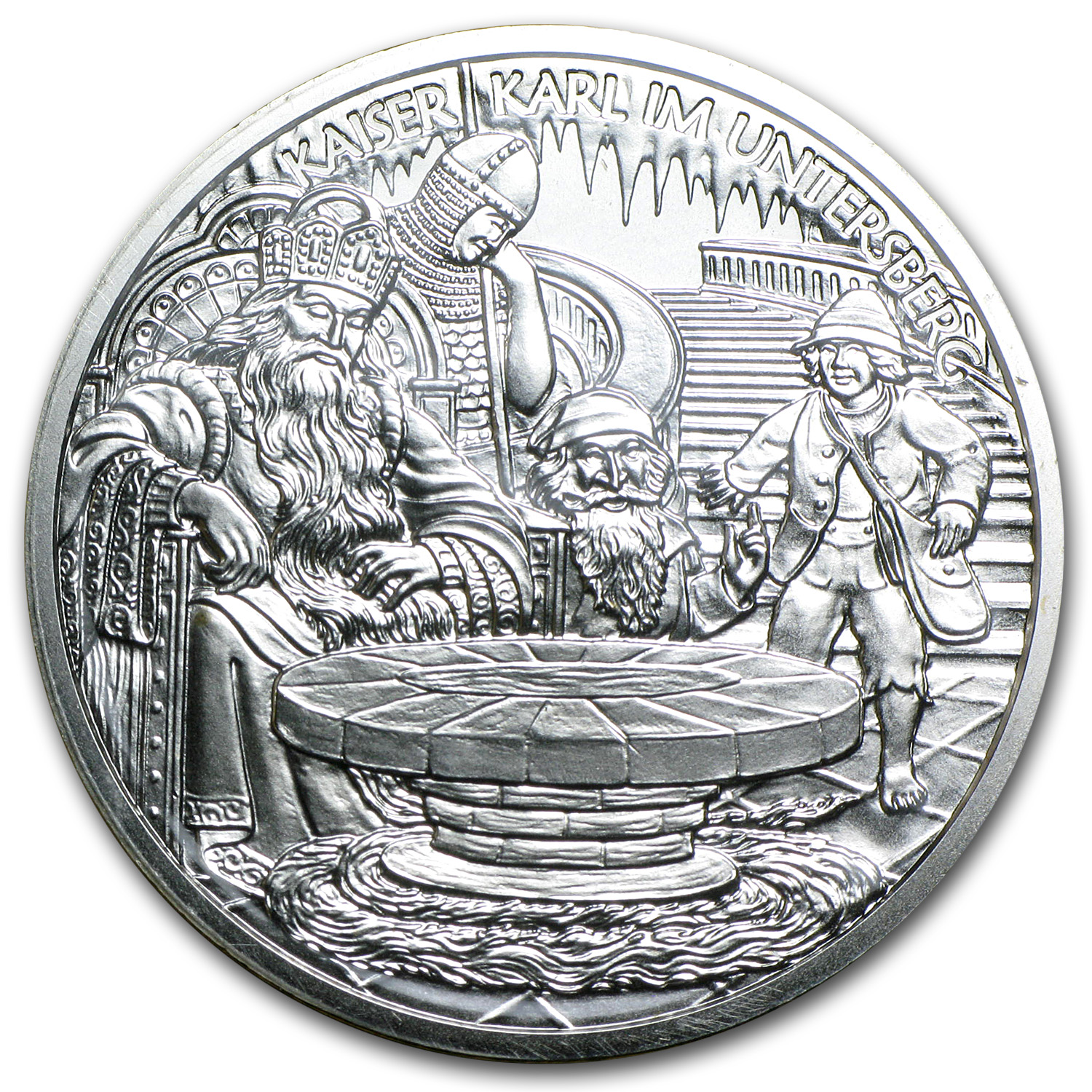 2010 Charlemagne In The Untersberg 10 Euro Silver Coin ASW 0.4758