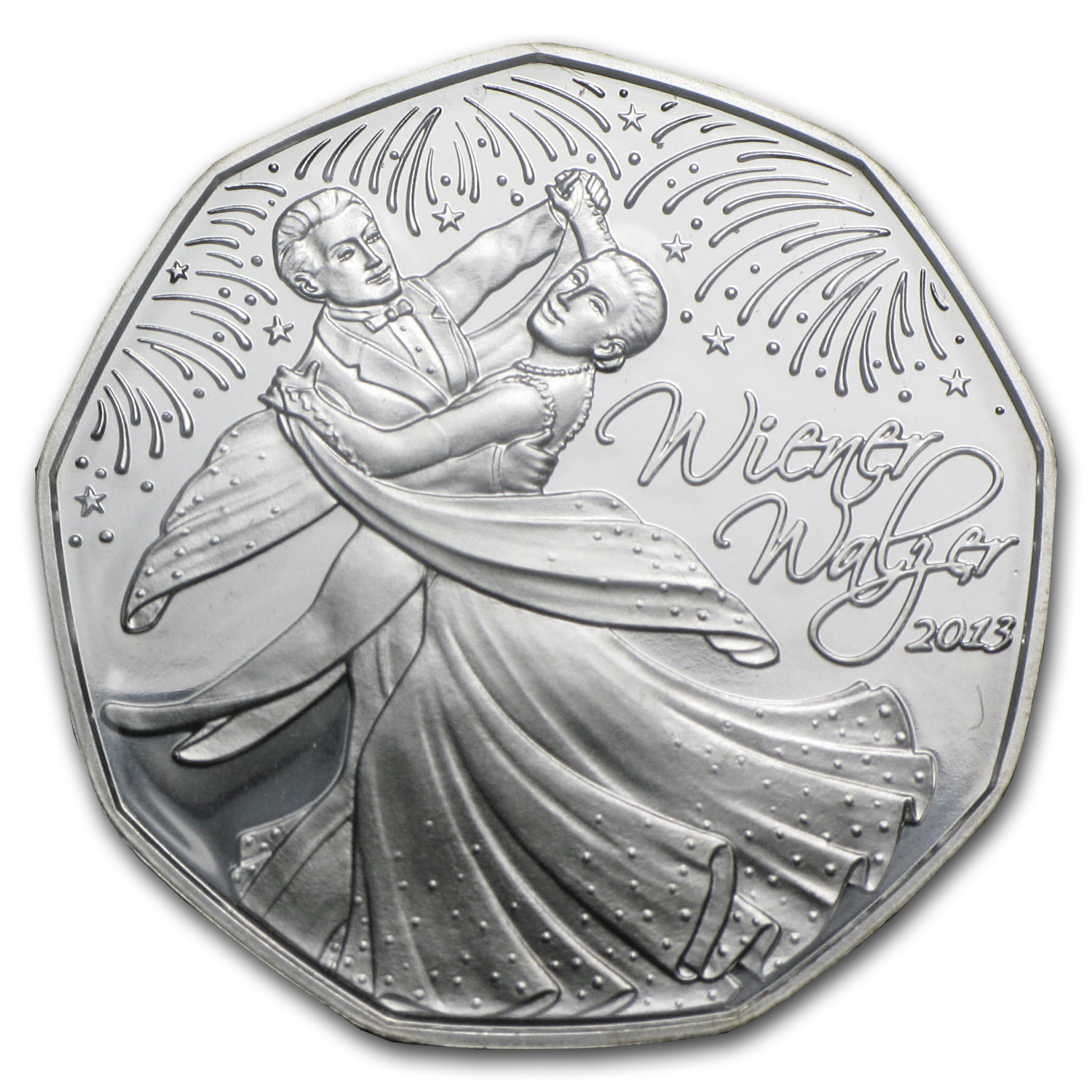 2013 Silver Austrian 5 Euro Home of the Waltz BU