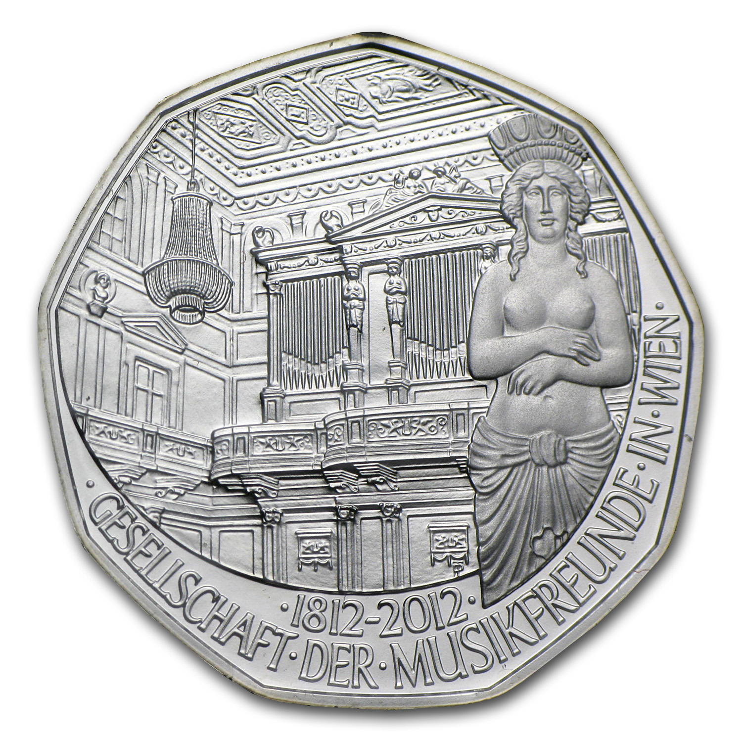 2011 The Bicentenary of Society of Music Lovers 5 Euro Silver