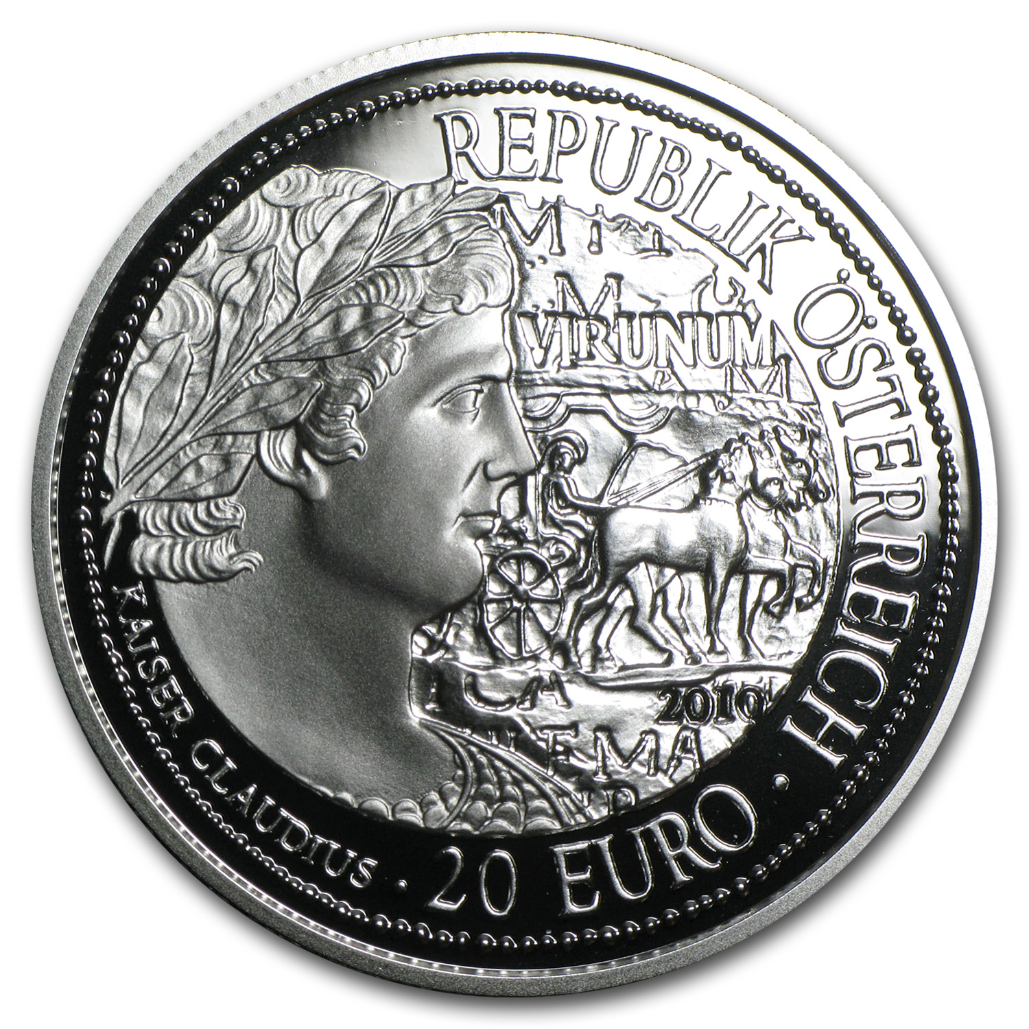 2010 Austria Silver €20 Virunum Proof