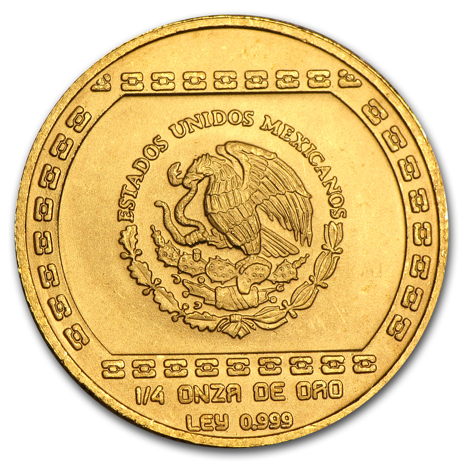 1993 Mexico 25 Pesos Gold Hacha Ceremonial Brilliant Uncirculated