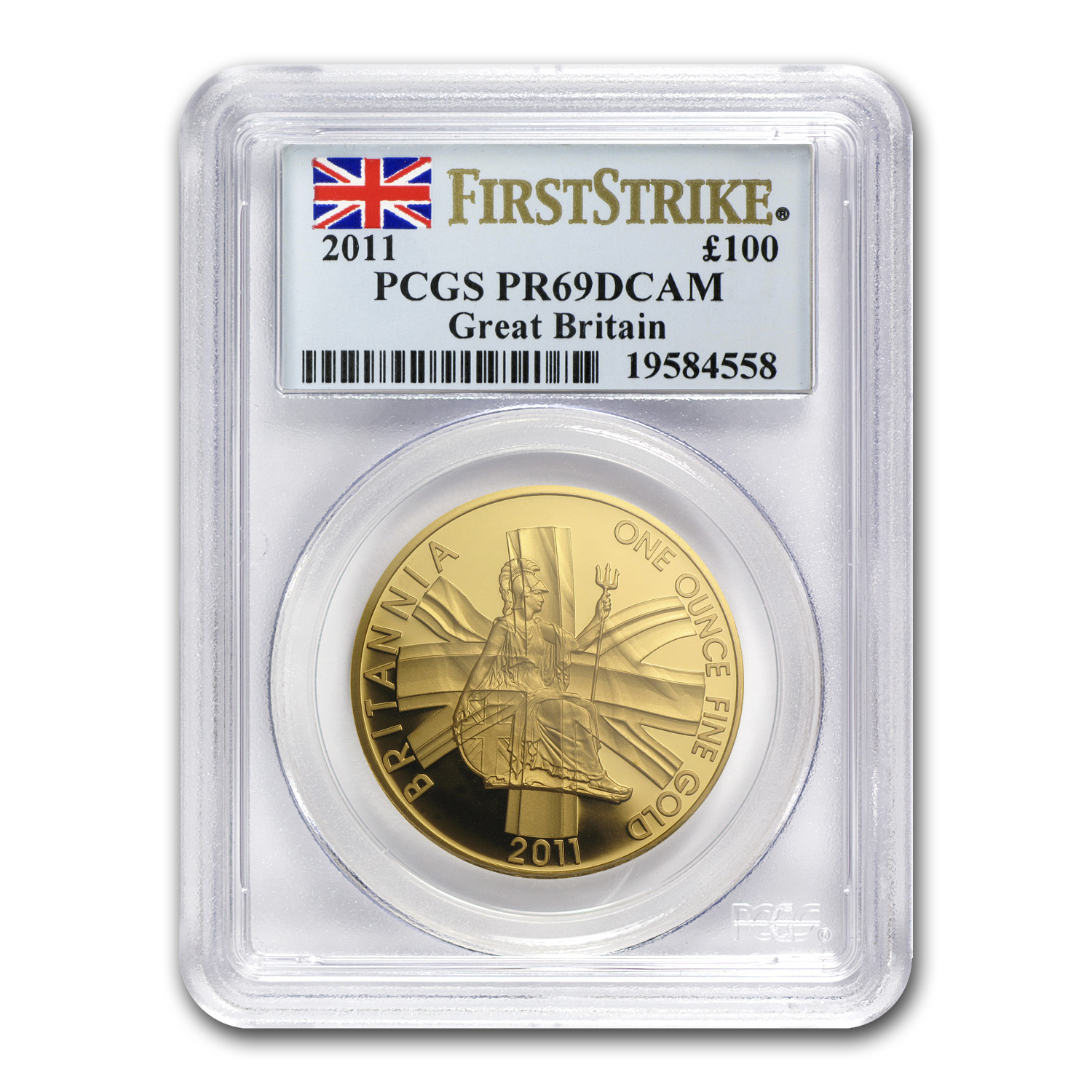 2011 Great Britain Proof Gold 1 oz Britannia PR-69 PCGS