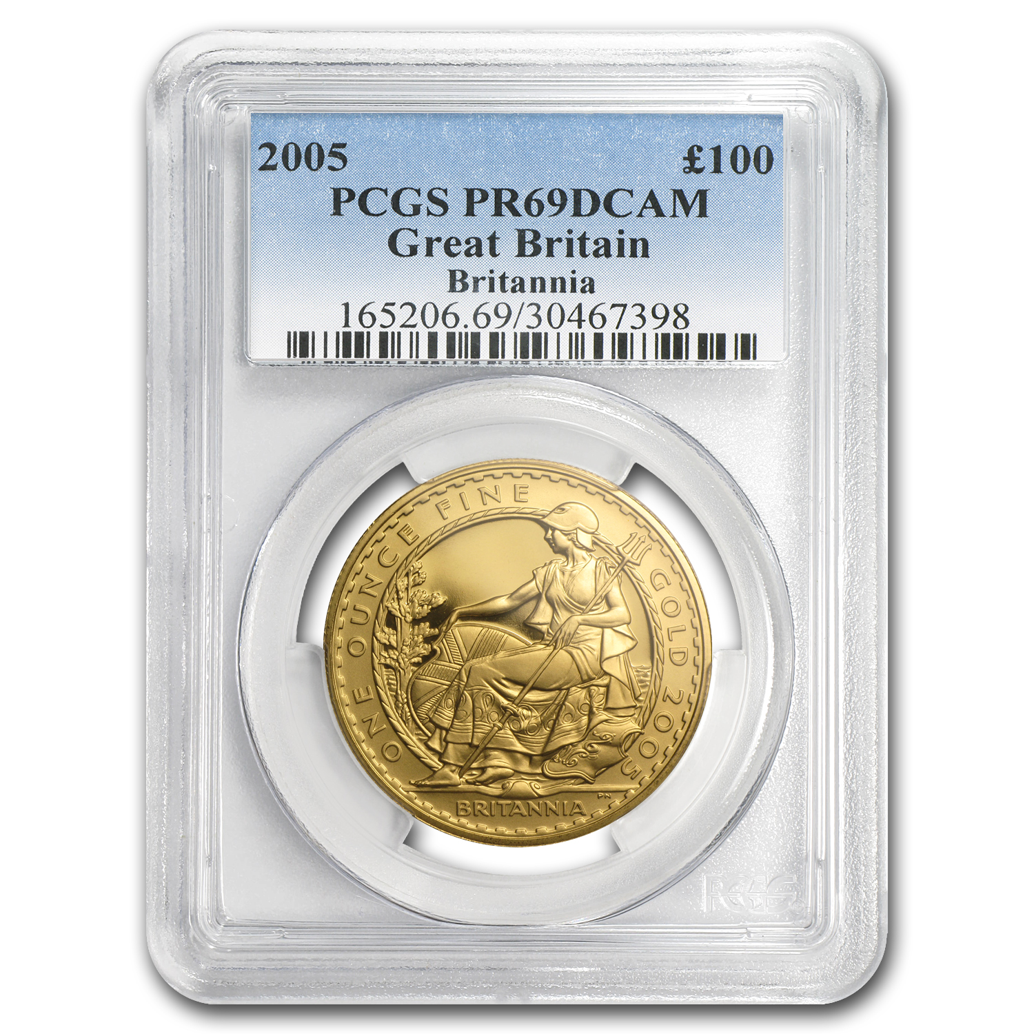 2005 Great Britain Proof Gold 1 oz Britannia PR-69 PCGS