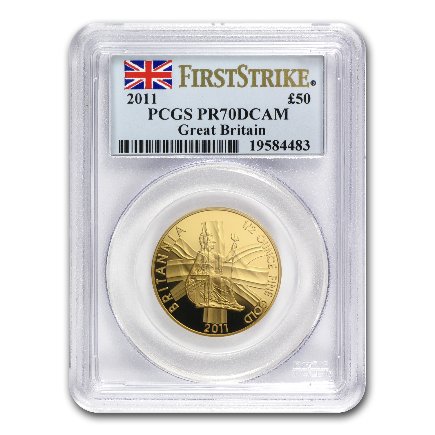 2011 Great Britain 1/2 oz Proof Gold Britannia PR-70 PCGS (FS)
