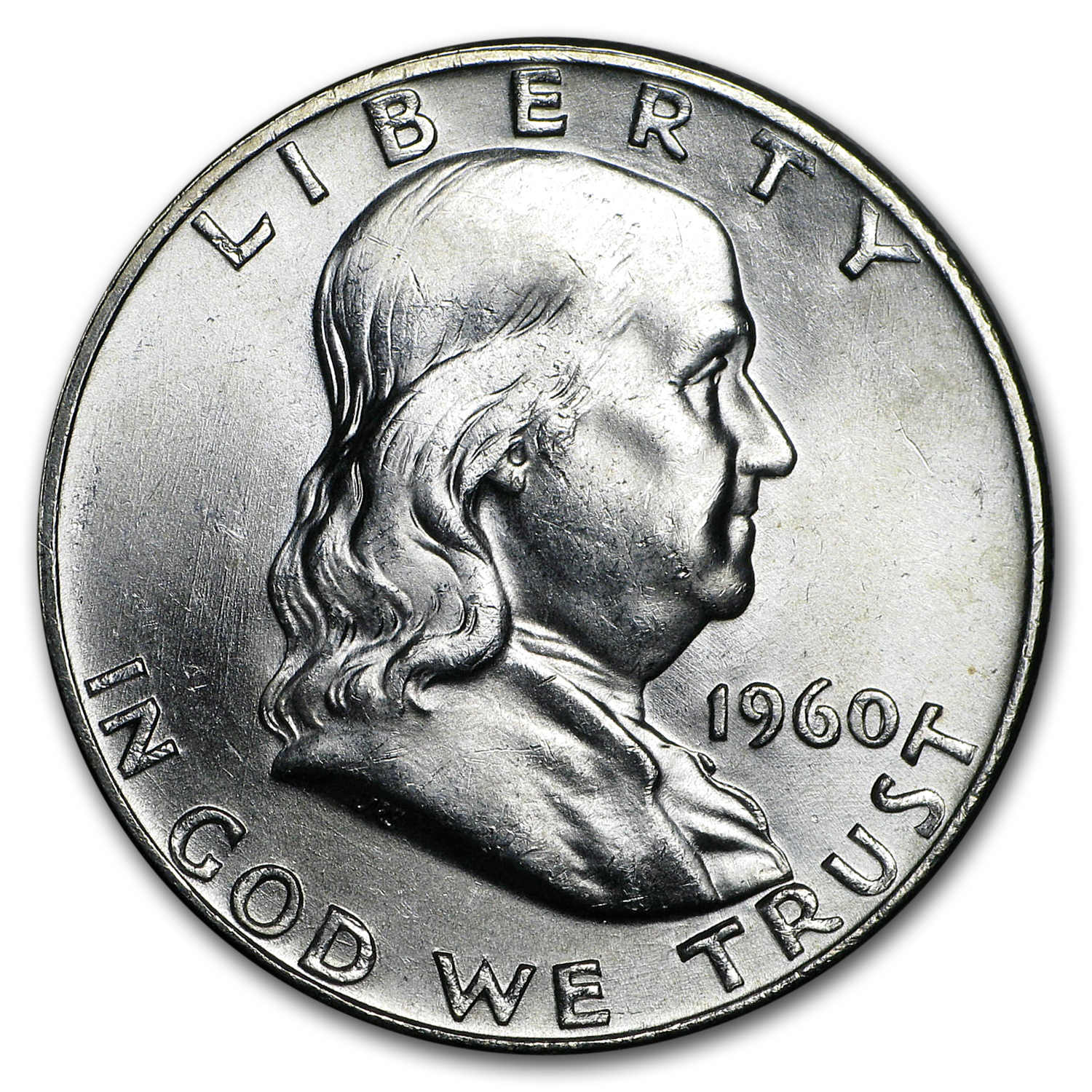 1960-D Franklin Half Dollar BU