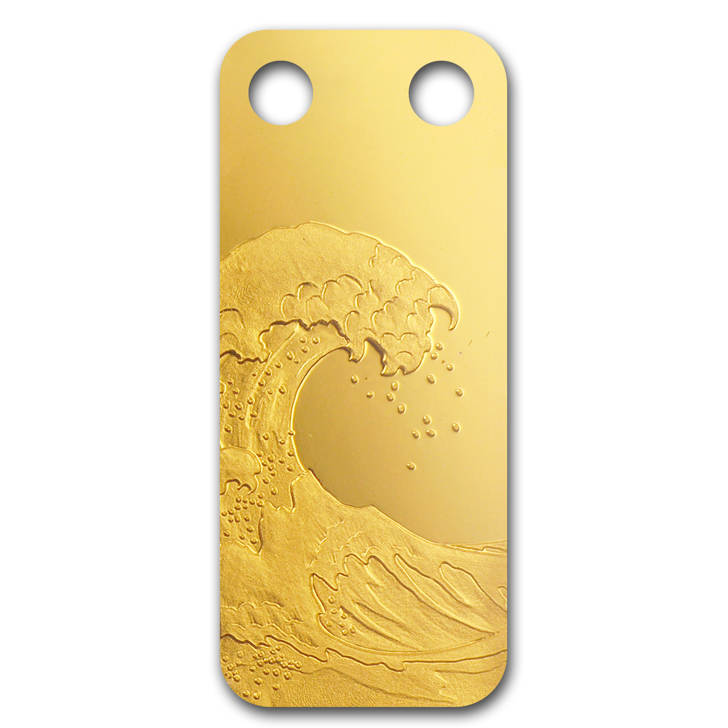 1/5 oz Gold Pendant - Pamp Suisse Ingot (Wave, Proof)