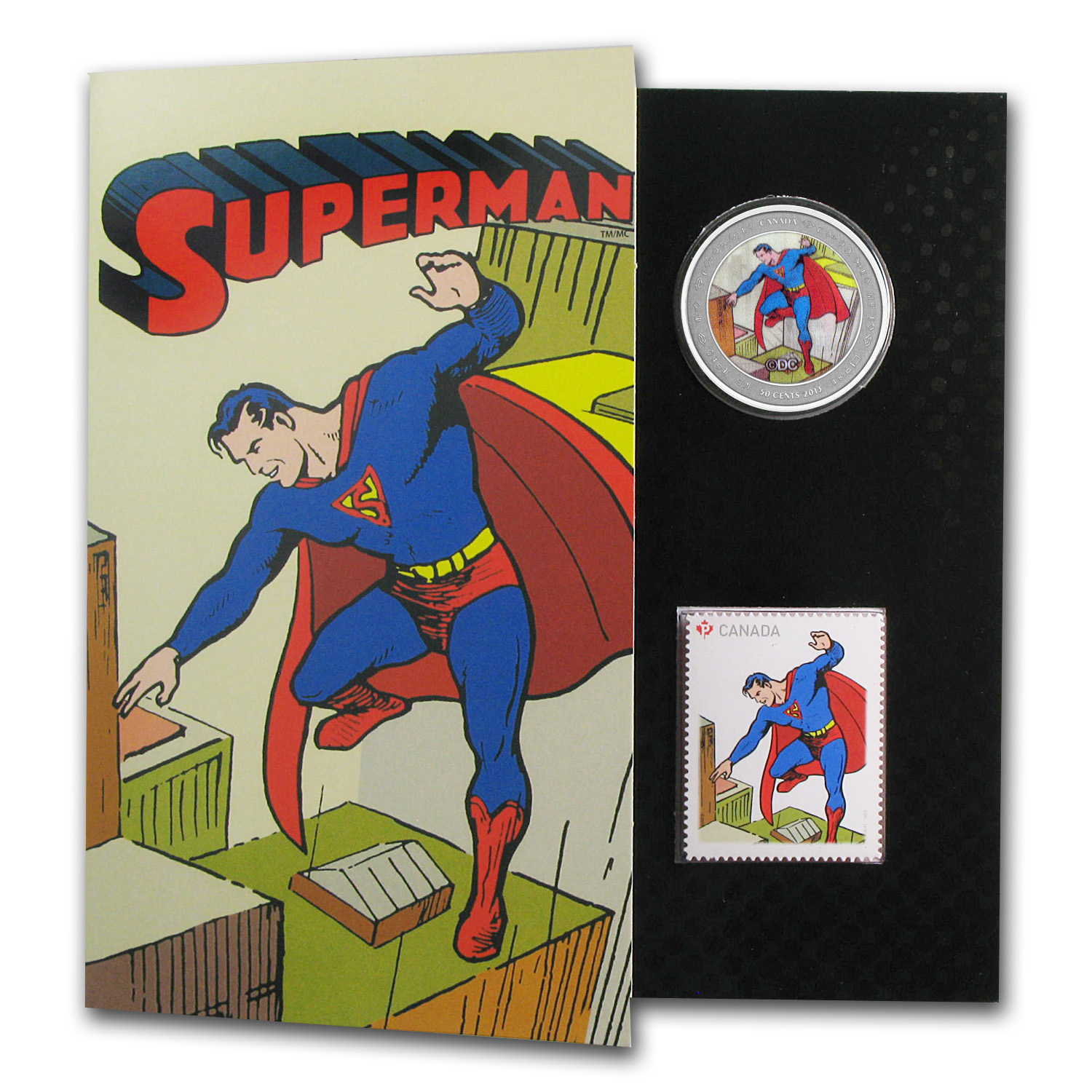 2013 Canada 75th Anniv. of Superman™ Then & Now-Coin & Stamp