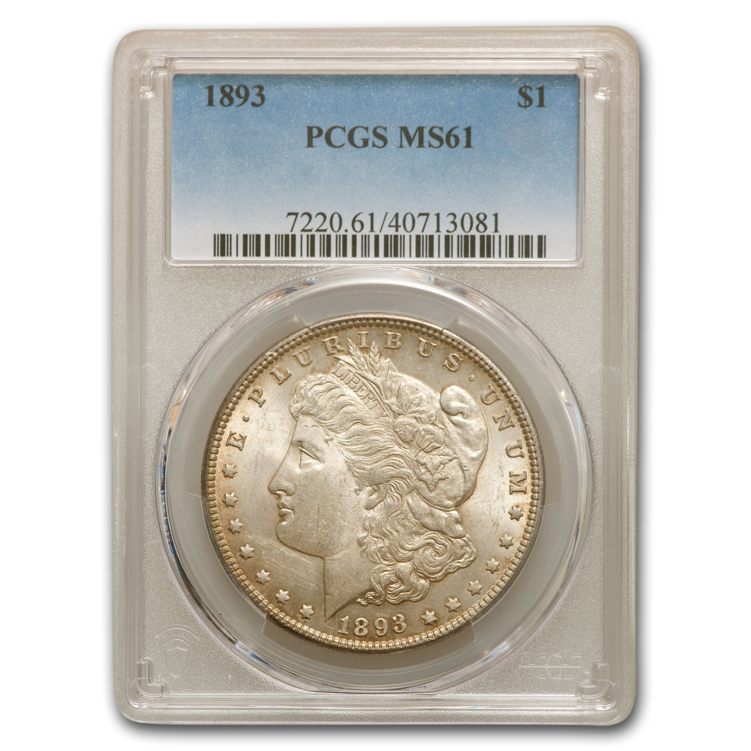 1893 Morgan Dollar MS-61 PCGS