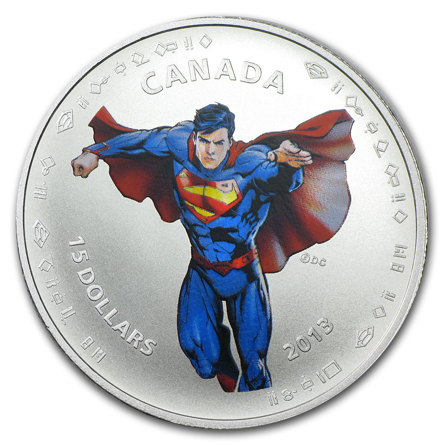 2013 1/2 oz Silver Canadian 75th Anniv. of Superman™ (Modern Day)