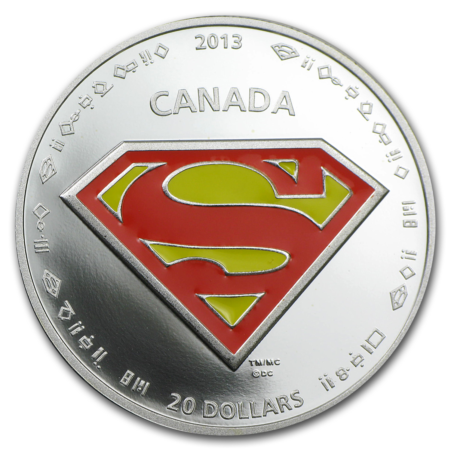2013 Canada 1 oz Silver 75th Anniv. of Superman™ The Shield
