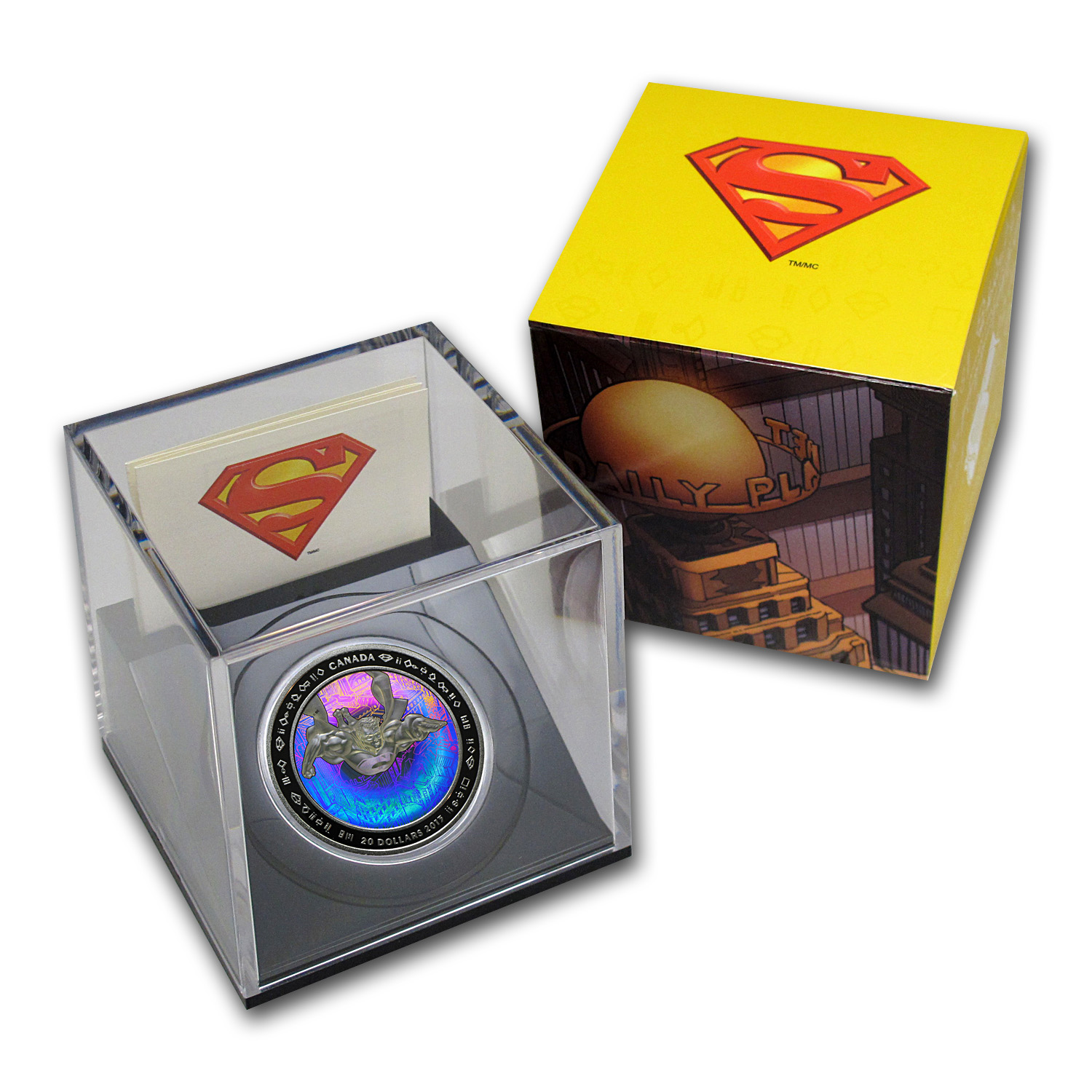 2013 1 oz Silver Canadian 75th Anniv. of Superman™ (Metropolis)