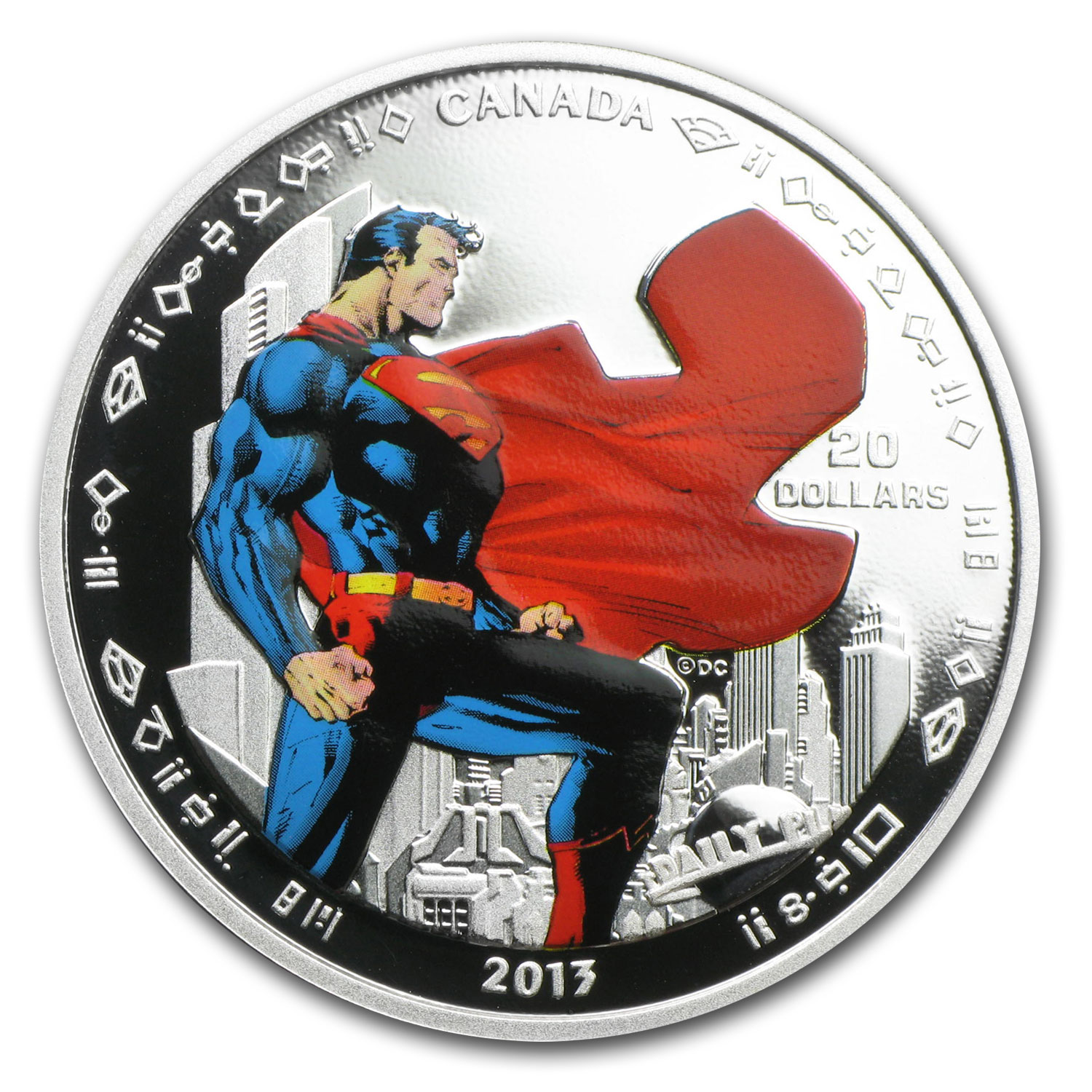2013 1 oz Silver Canadian 75th Anniv. of Superman™ - Man of Steel