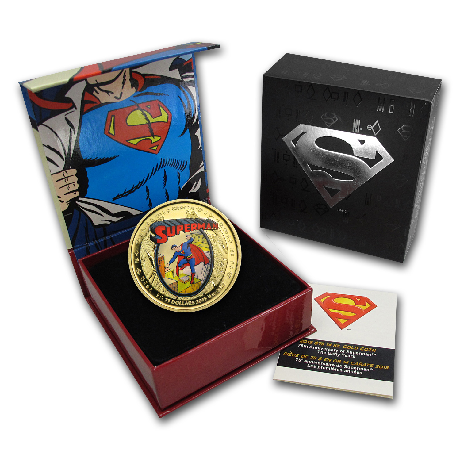 2013 Canada Proof Gold 75th Anniv of Superman™ The Early Years