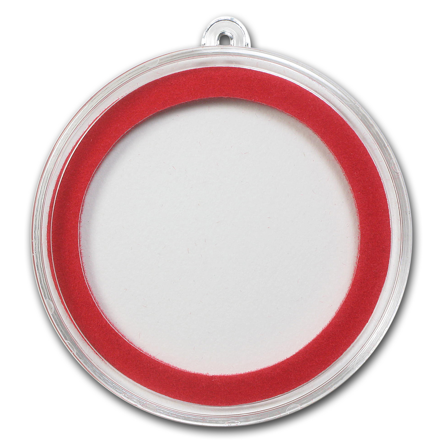 Ornament Capsule for Silver Rounds (38mm) - Red Ring