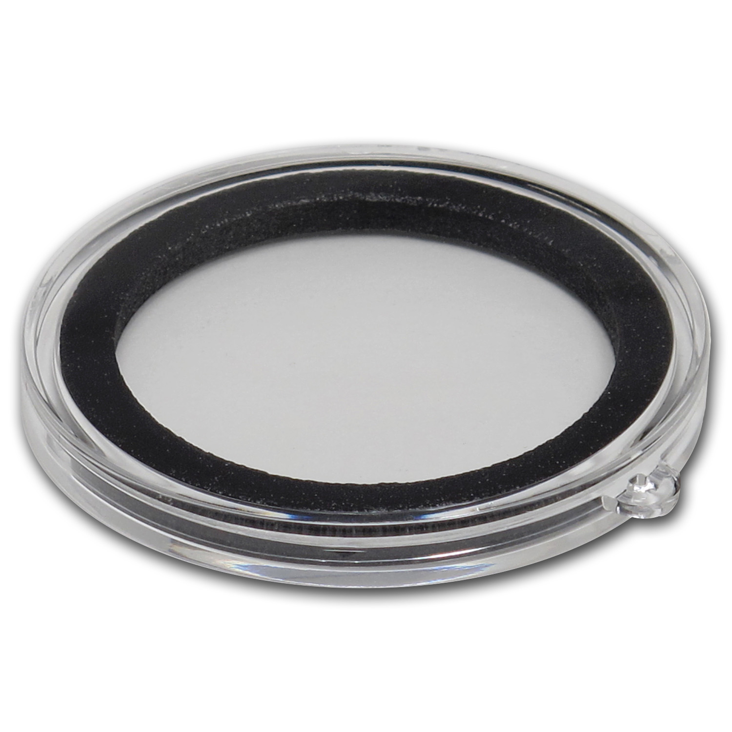 Ornament Capsule for Silver Rounds - 38mm (Black Ring)