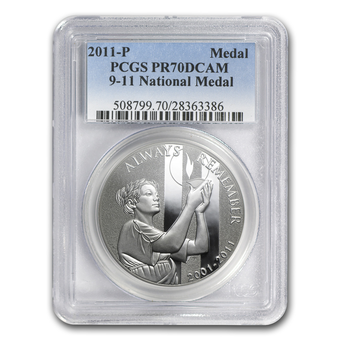 2011-P 9/11 National Medal - PR-70 DCAM PCGS