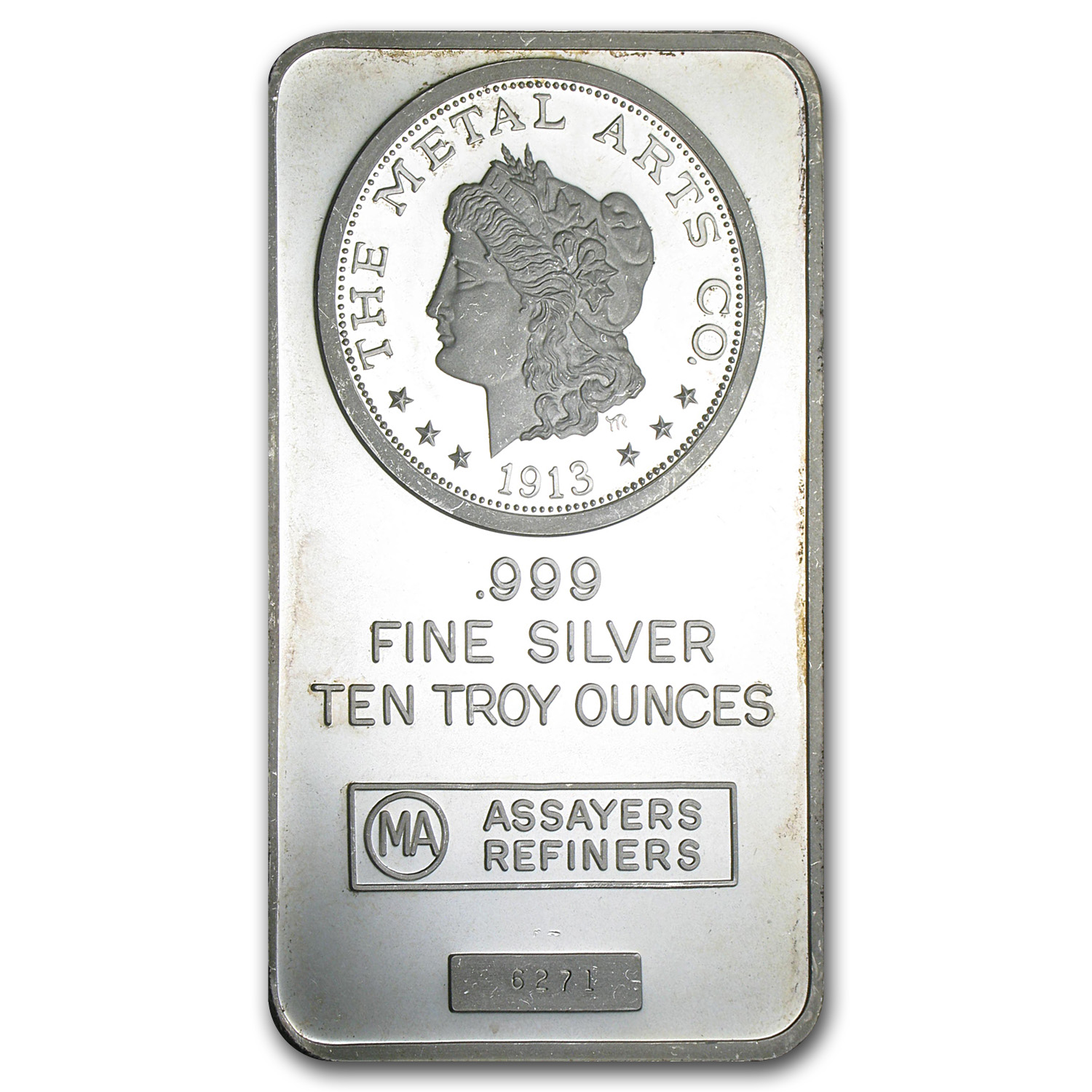 10 oz Silver Bar - Morgan (Metal Arts Co.)