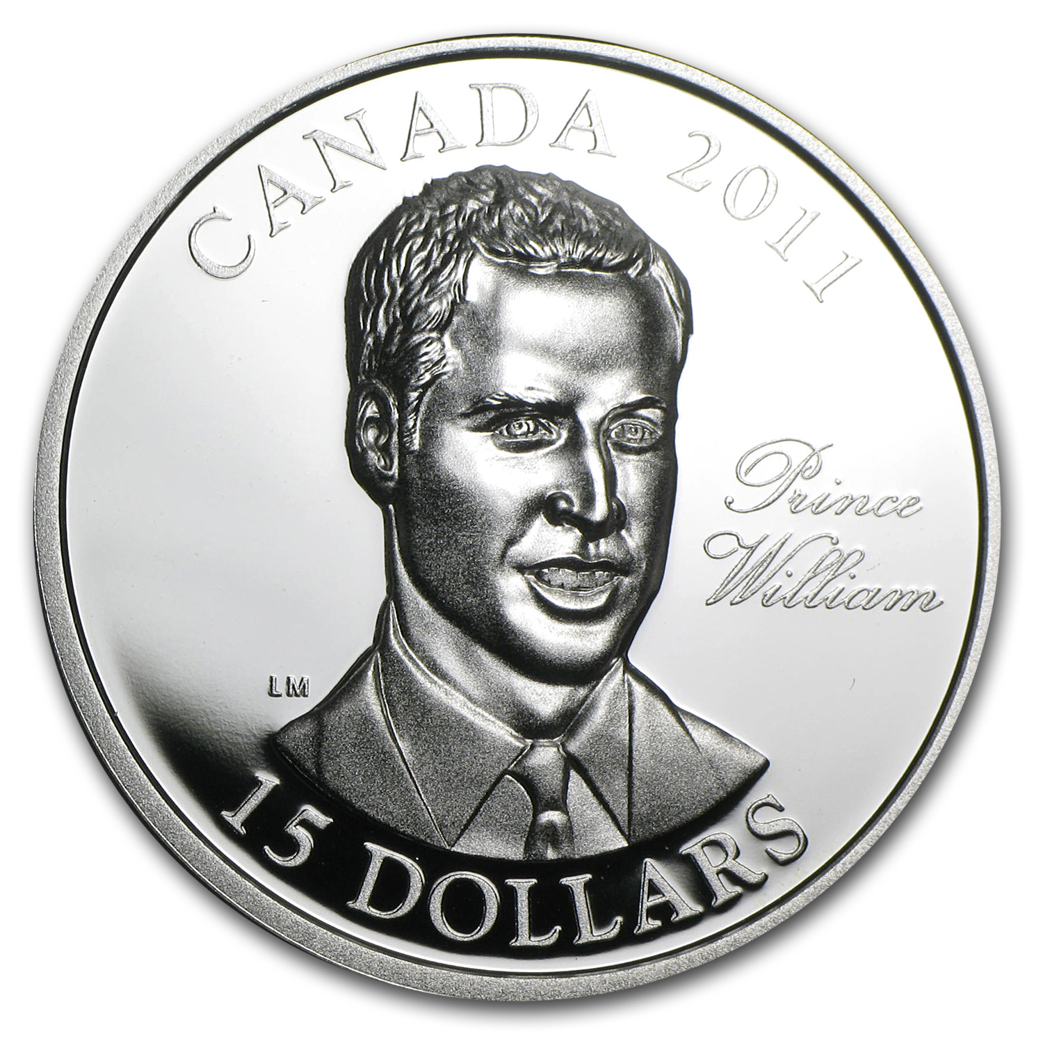 2011 Canada Silver $15 The Prince William (UHR)