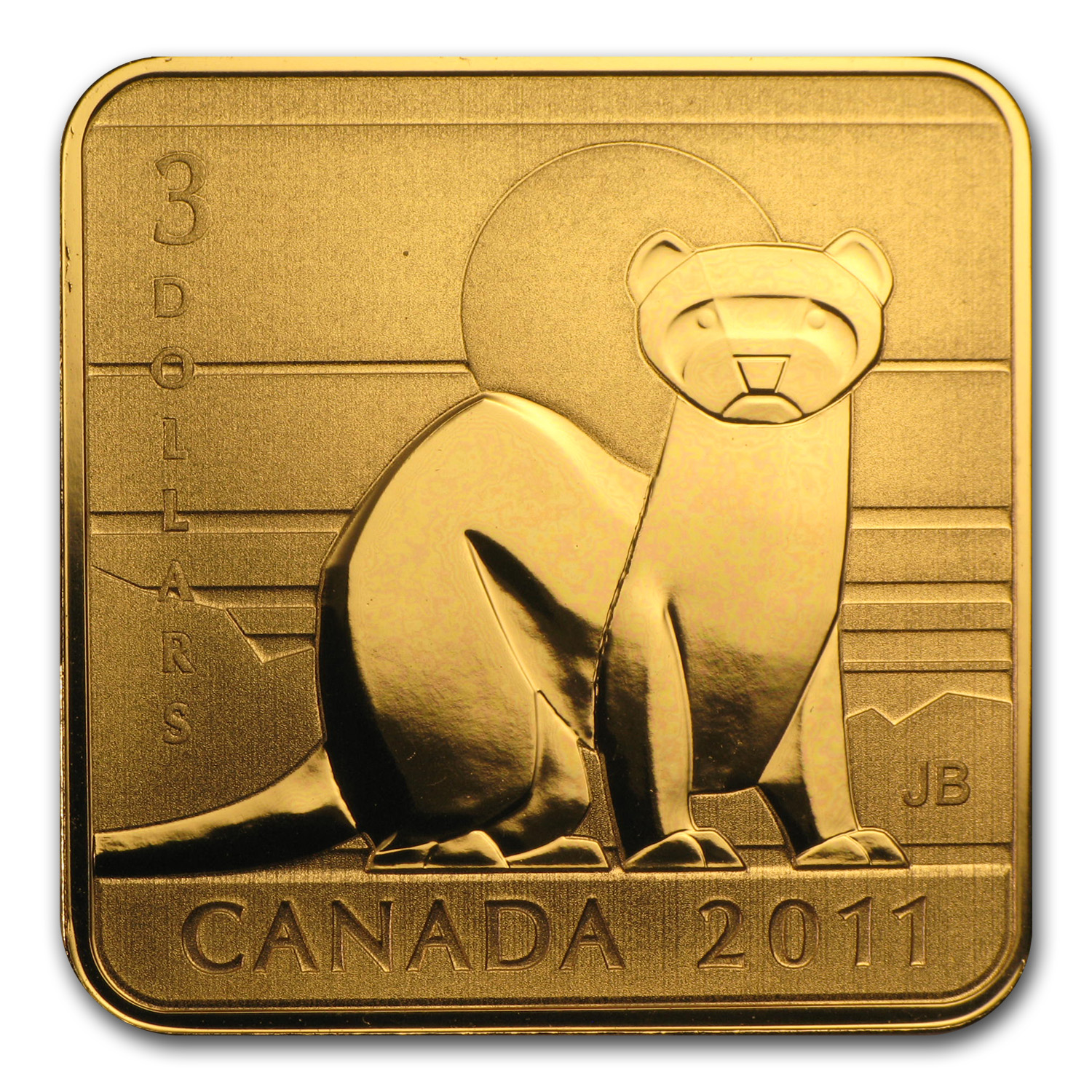 2011 Canada Silver Wildlife Conservation Black Footed Ferret