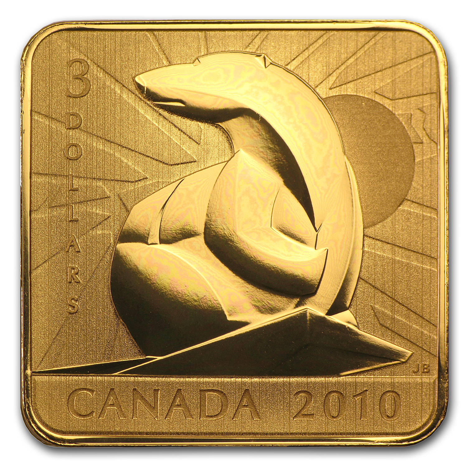 2010 Canada Silver $3 Wildlife Conservation (Polar Bear)