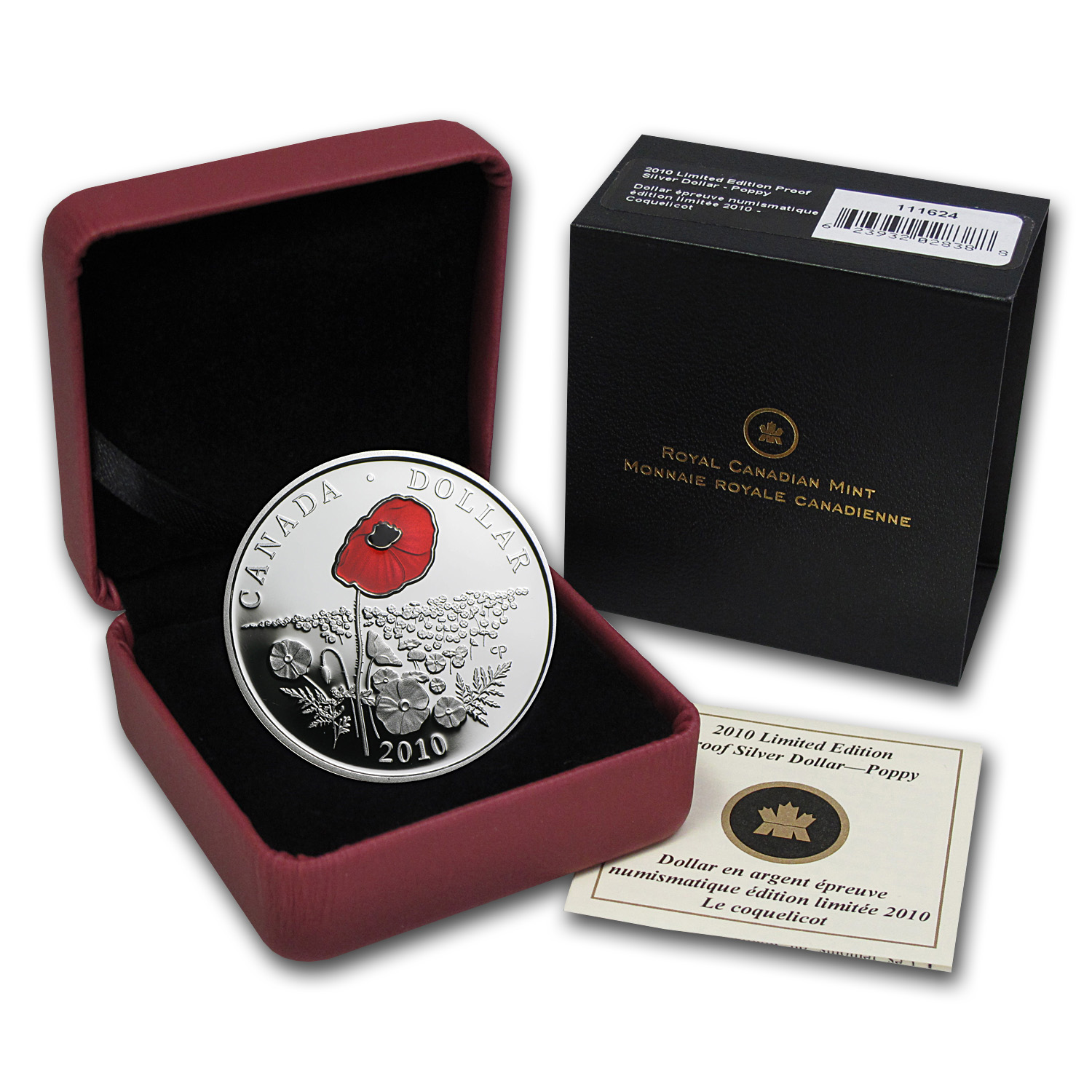 2010 Canada Silver $1 Limited Edition Proof (Enameled Poppy)