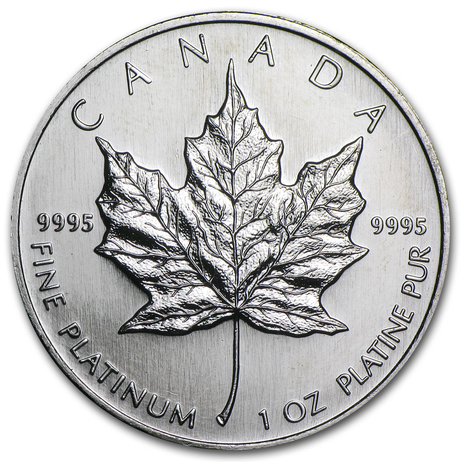 1996 1 oz Canadian Platinum Maple Leaf